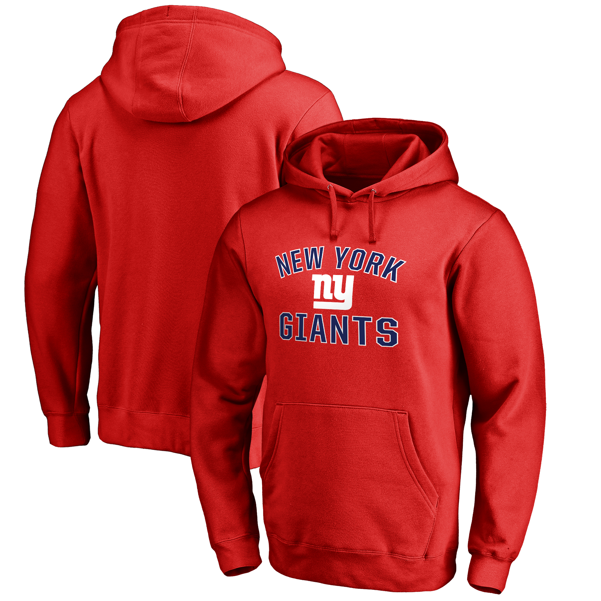 New York Giants NFL Pro Line Big & Tall Victory Arch Pullover Hoodie - Red
