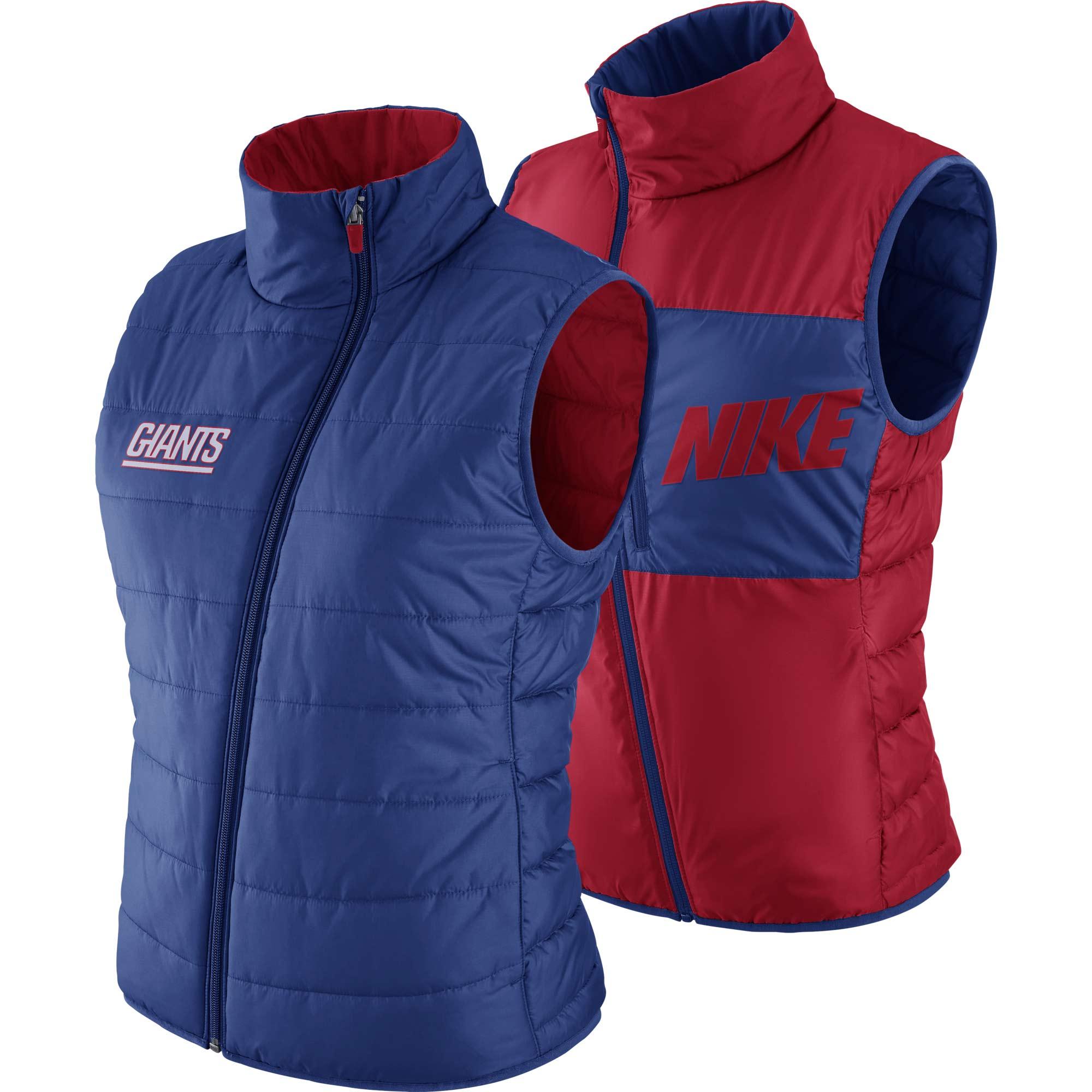 New York Giants Nike Women's Reversible Full-Zip Vest - Blue