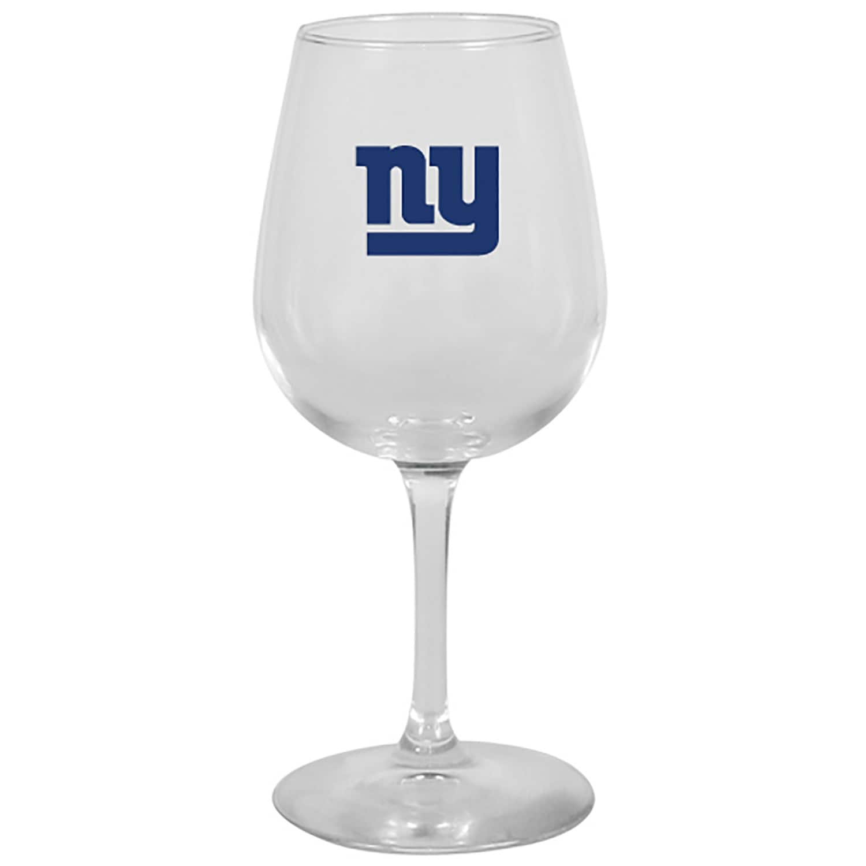 New York Giants 12oz. Stemmed Wine Glass