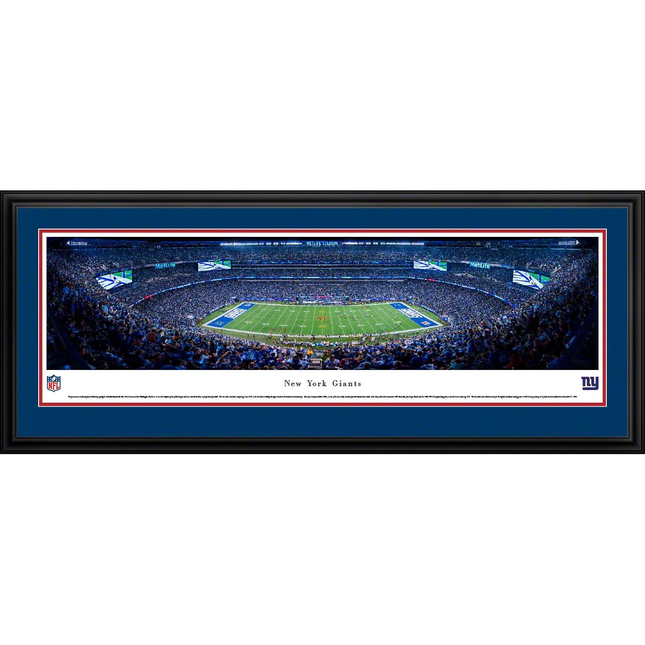 "New York Giants 18"" x 44"" Deluxe Frame Panoramic Photo"