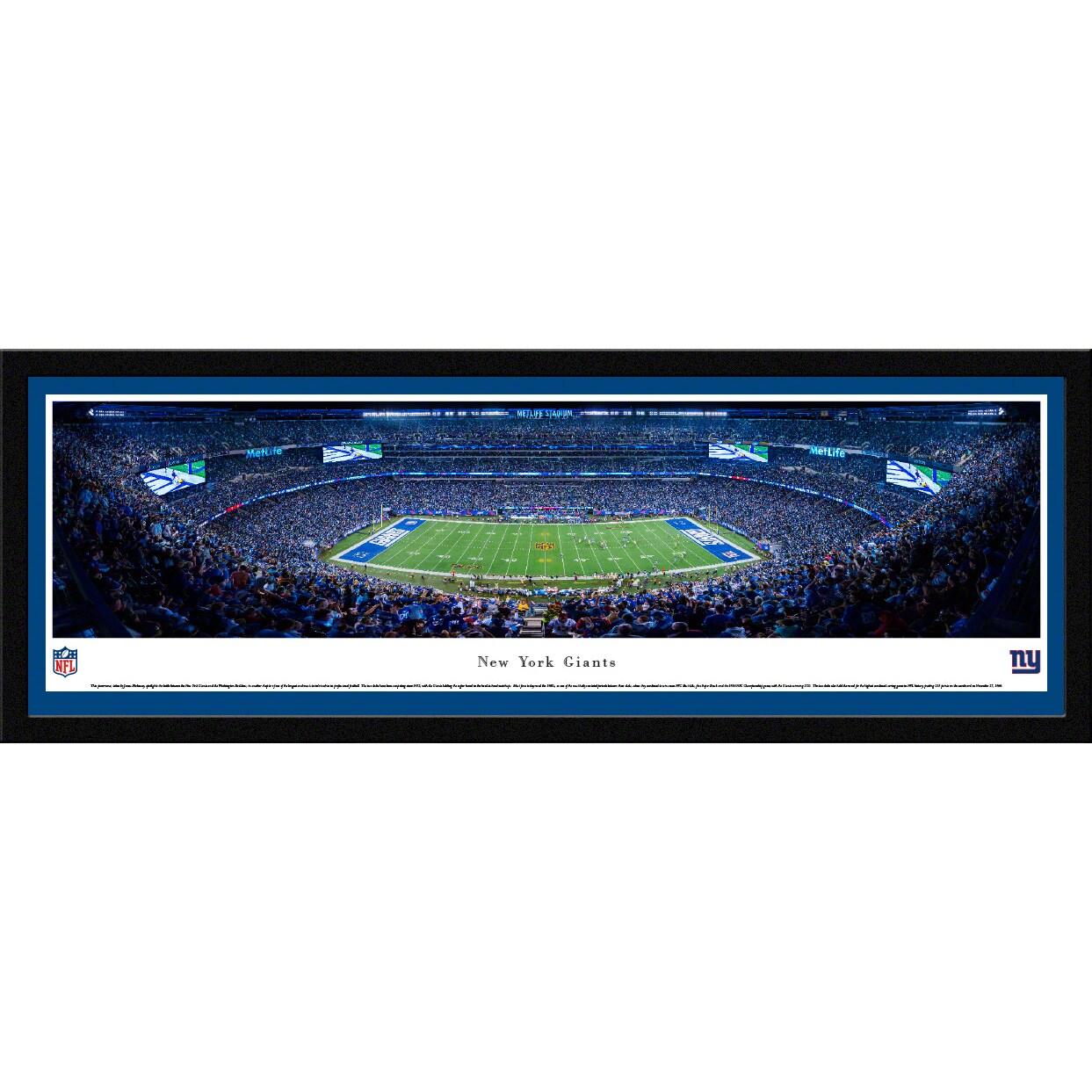 """New York Giants 16"""" x 42"""" Select Frame Panoramic Photo"""