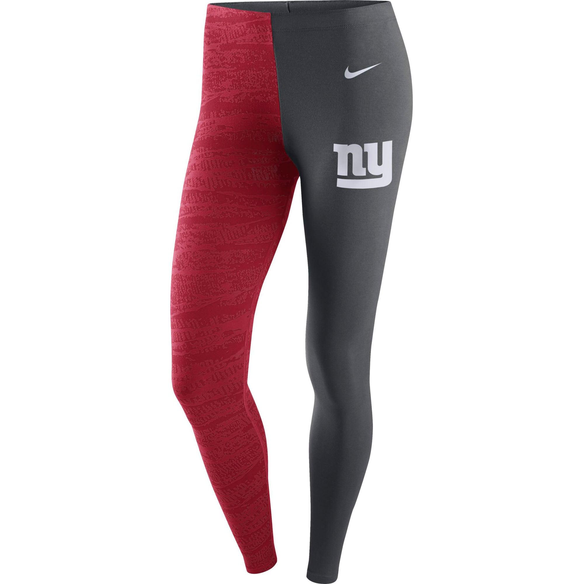 New York Giants Nike Women's Leg-A-See Leggings - Anthracite/Red