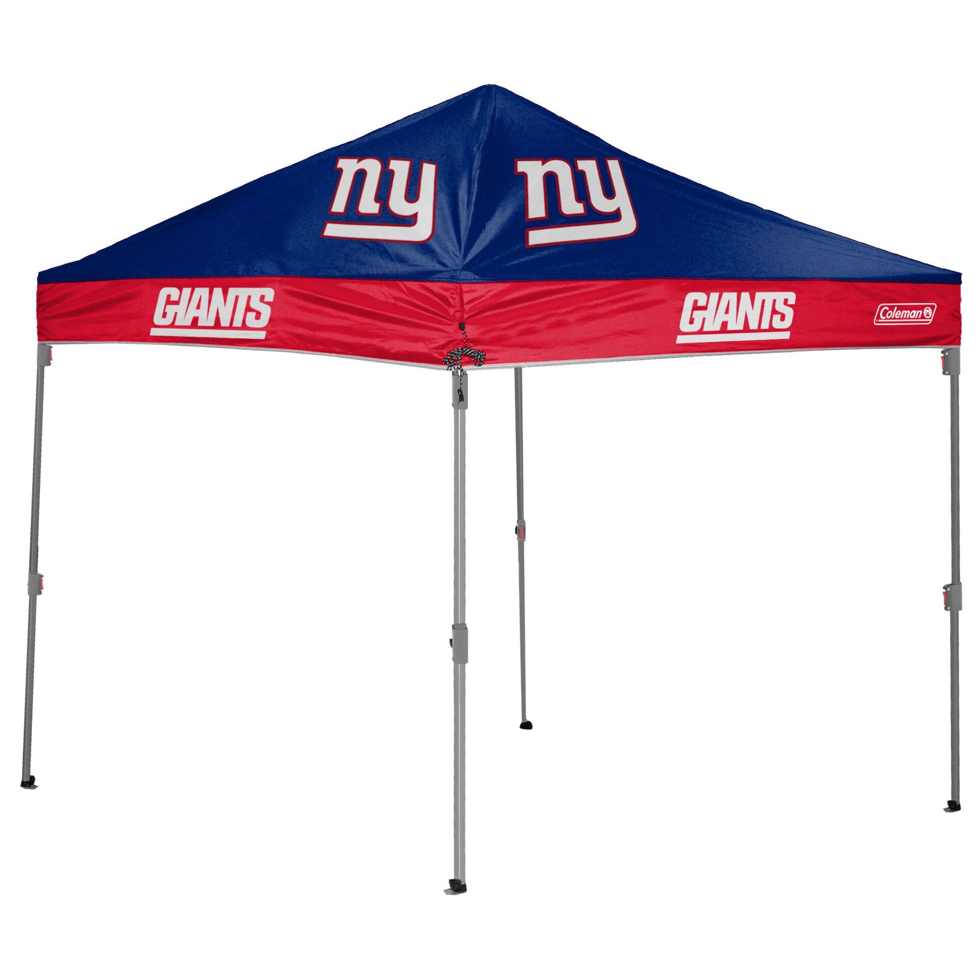 New York Giants Coleman 10' x 10' 2-Tone Straight Leg Canopy Tent