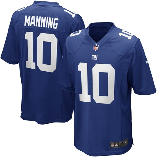 Eli Manning New York Giants Nike Youth Team Color Game Jersey - Royal Blue