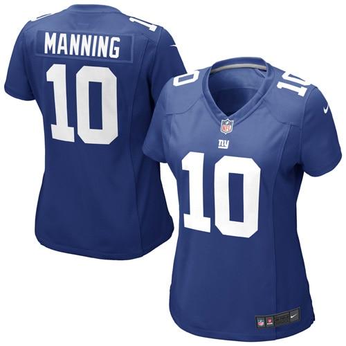 Eli Manning New York Giants Nike Girls Youth Game Jersey - Royal Blue