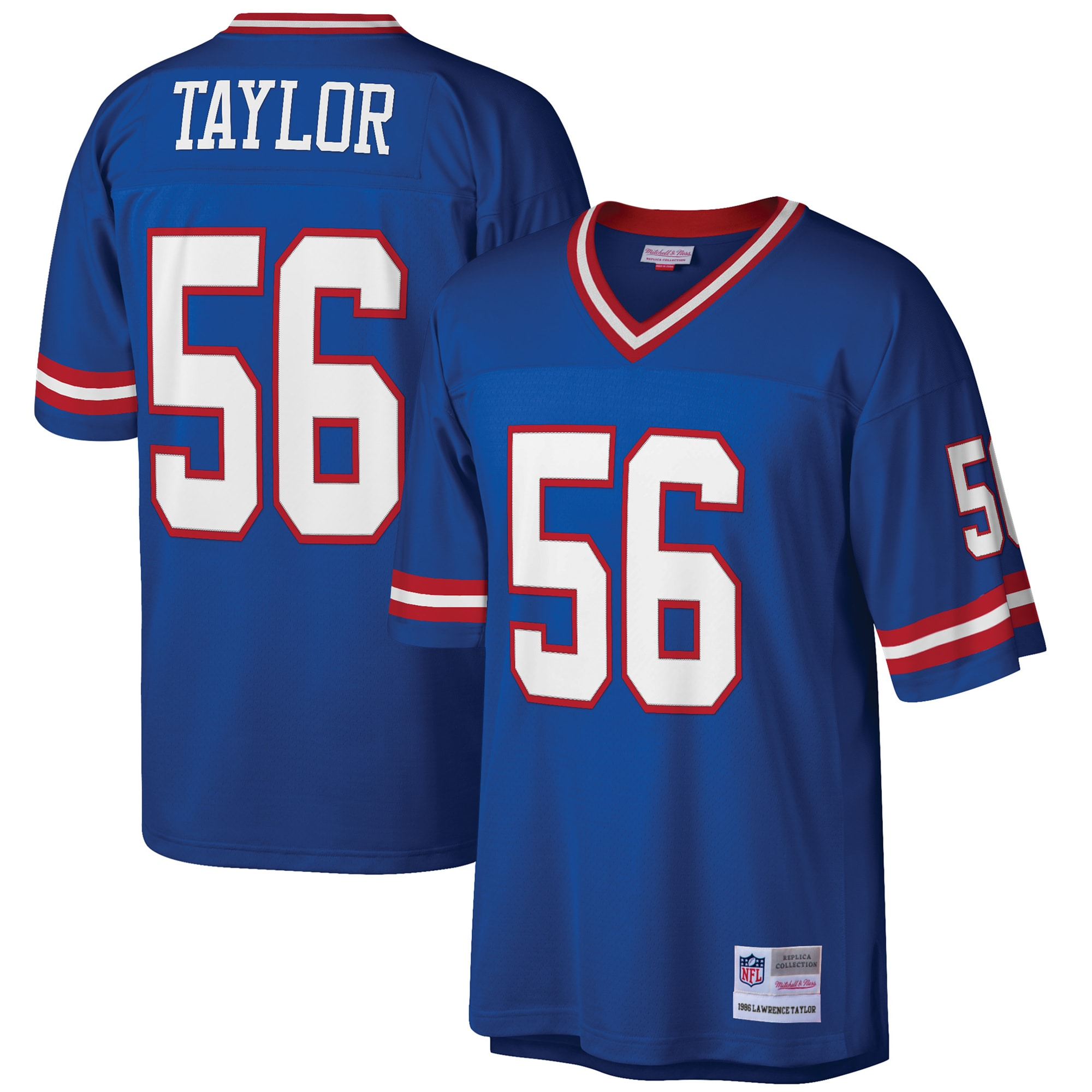 Lawrence Taylor New York Giants Mitchell & Ness Big & Tall 1986 Retired Player Replica Jersey - Royal