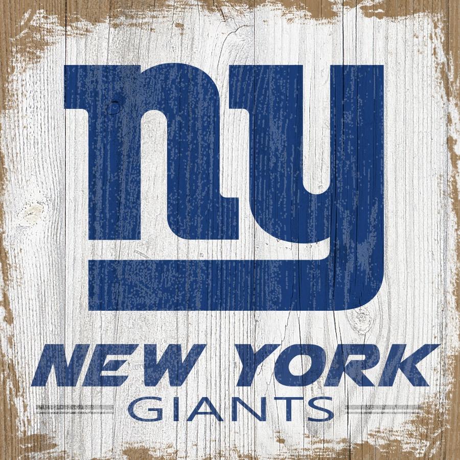 New York Giants 6'' x 6'' Team Logo Block