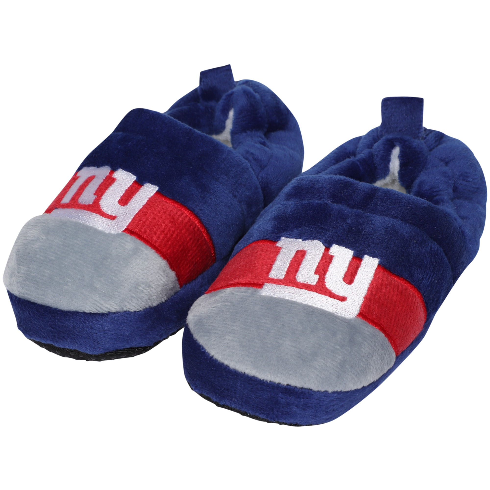 New York Giants Toddler Color Block Close Back Slippers