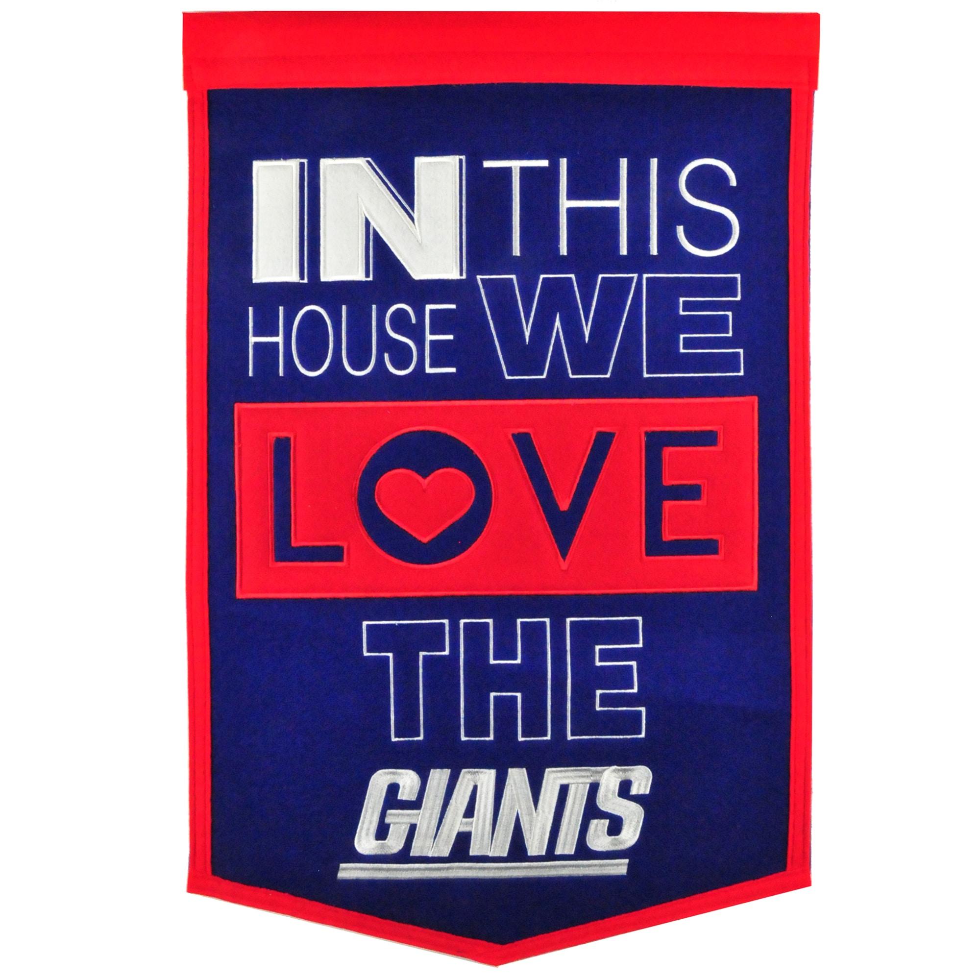 New York Giants 15'' x 24'' Home Banner