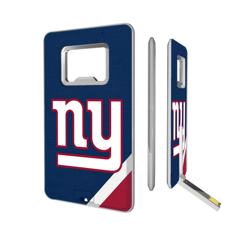 New York Giants Diagonal Stripe Credit Card USB Drive & Bottle Opener