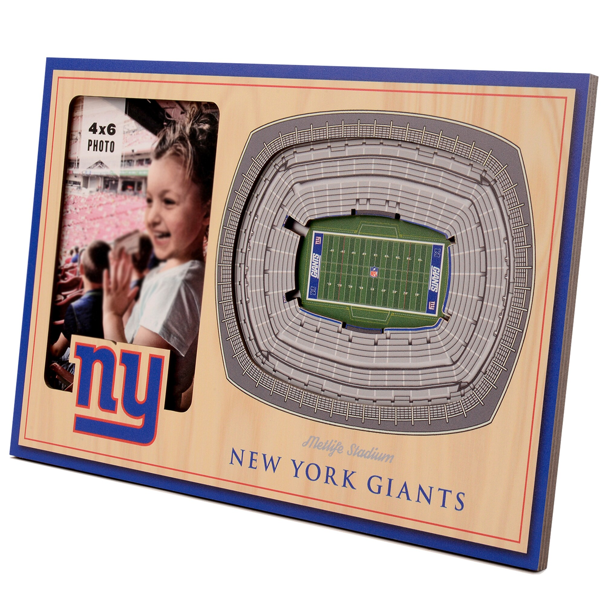 New York Giants 3D StadiumViews Picture Frame - Brown