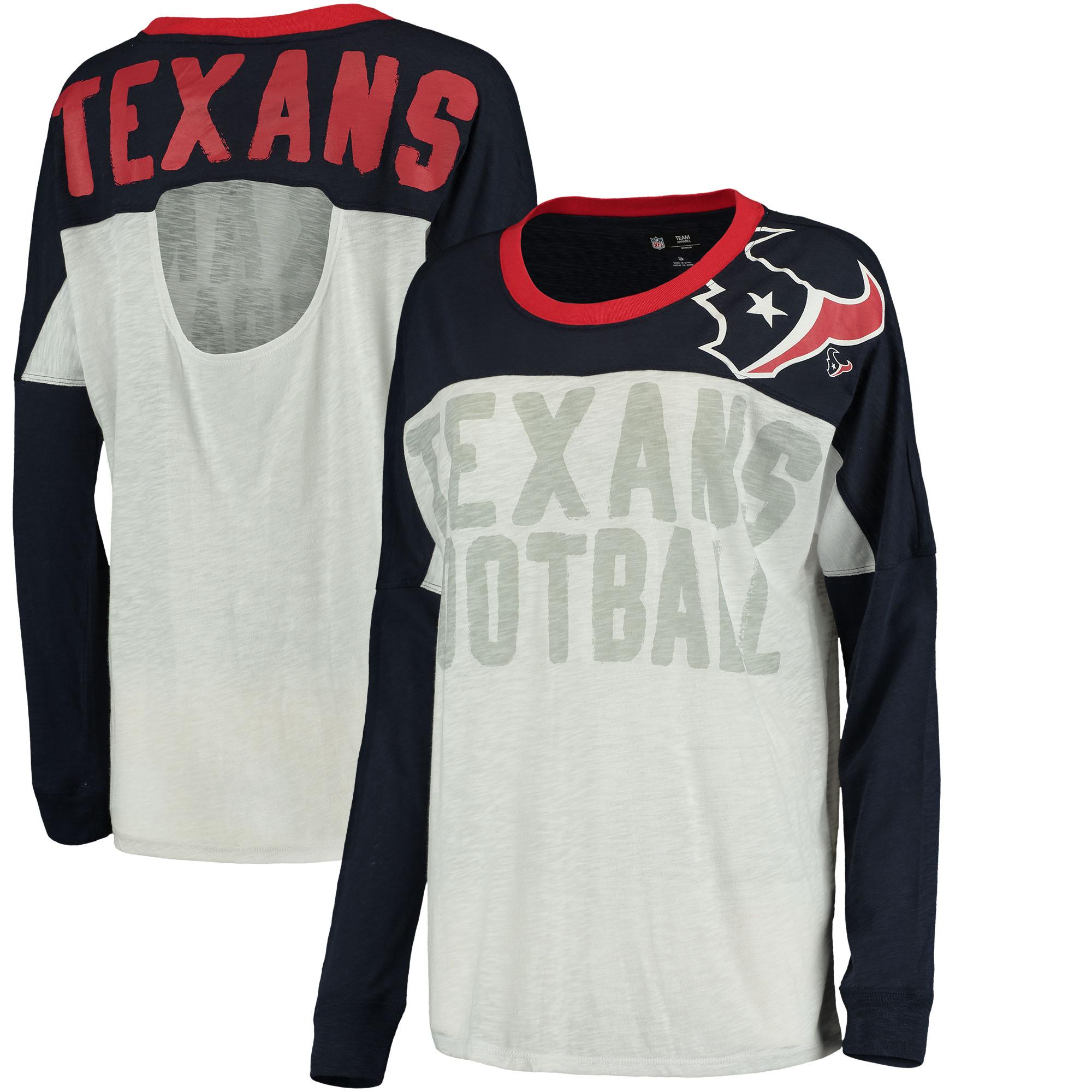 Houston Texans Women's Ralph Long Sleeve T-Shirt - Navy