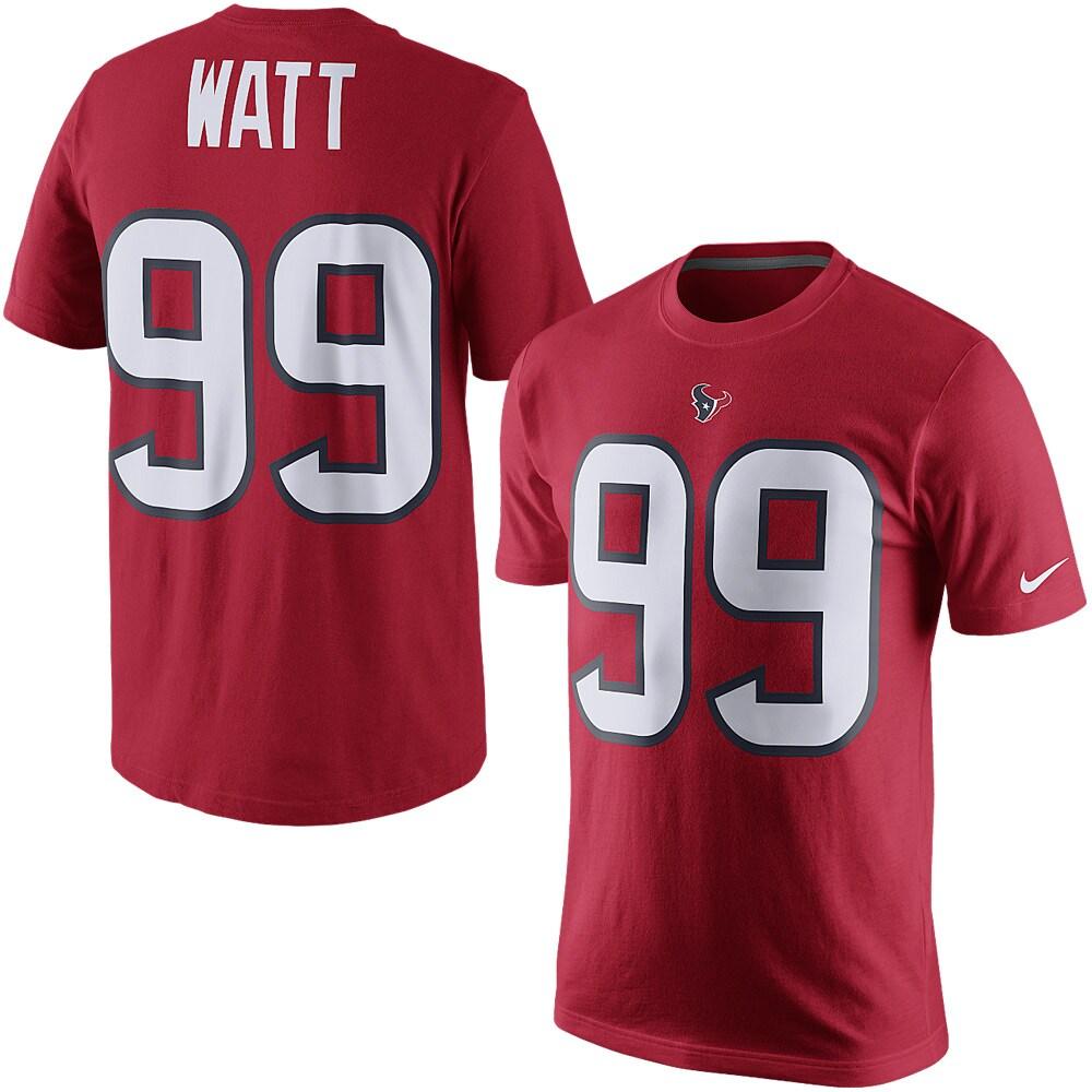 JJ Watt Houston Texans Nike Player Pride Name & Number T-Shirt - Red