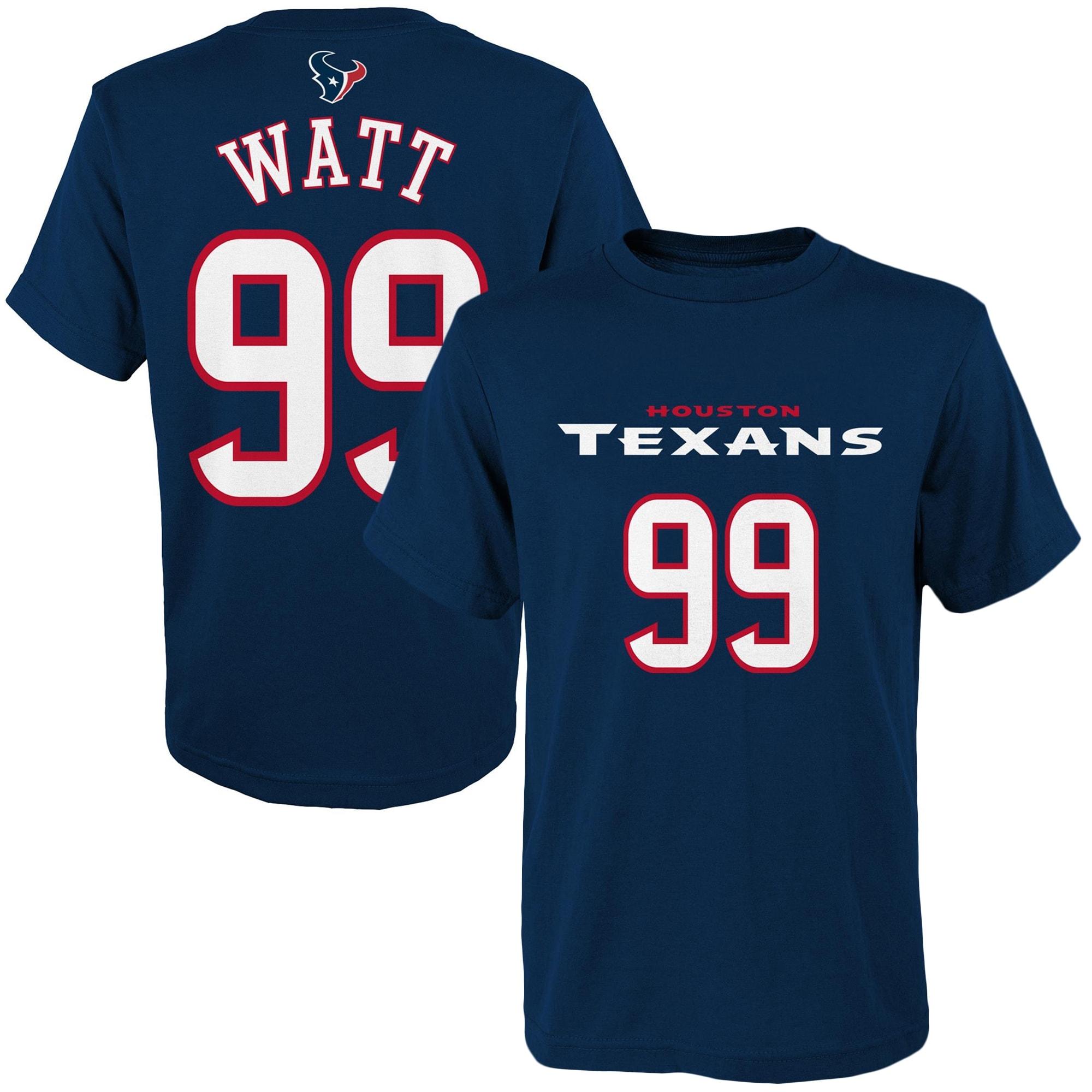 J.J. Watt Houston Texans Youth Mainliner Player Name & Number T-Shirt - Navy