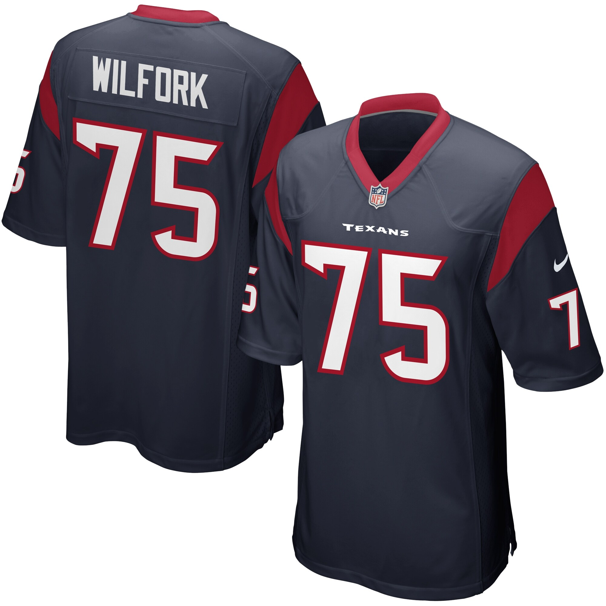 Vince Wilfork Houston Texans Nike Game Jersey - Navy Blue