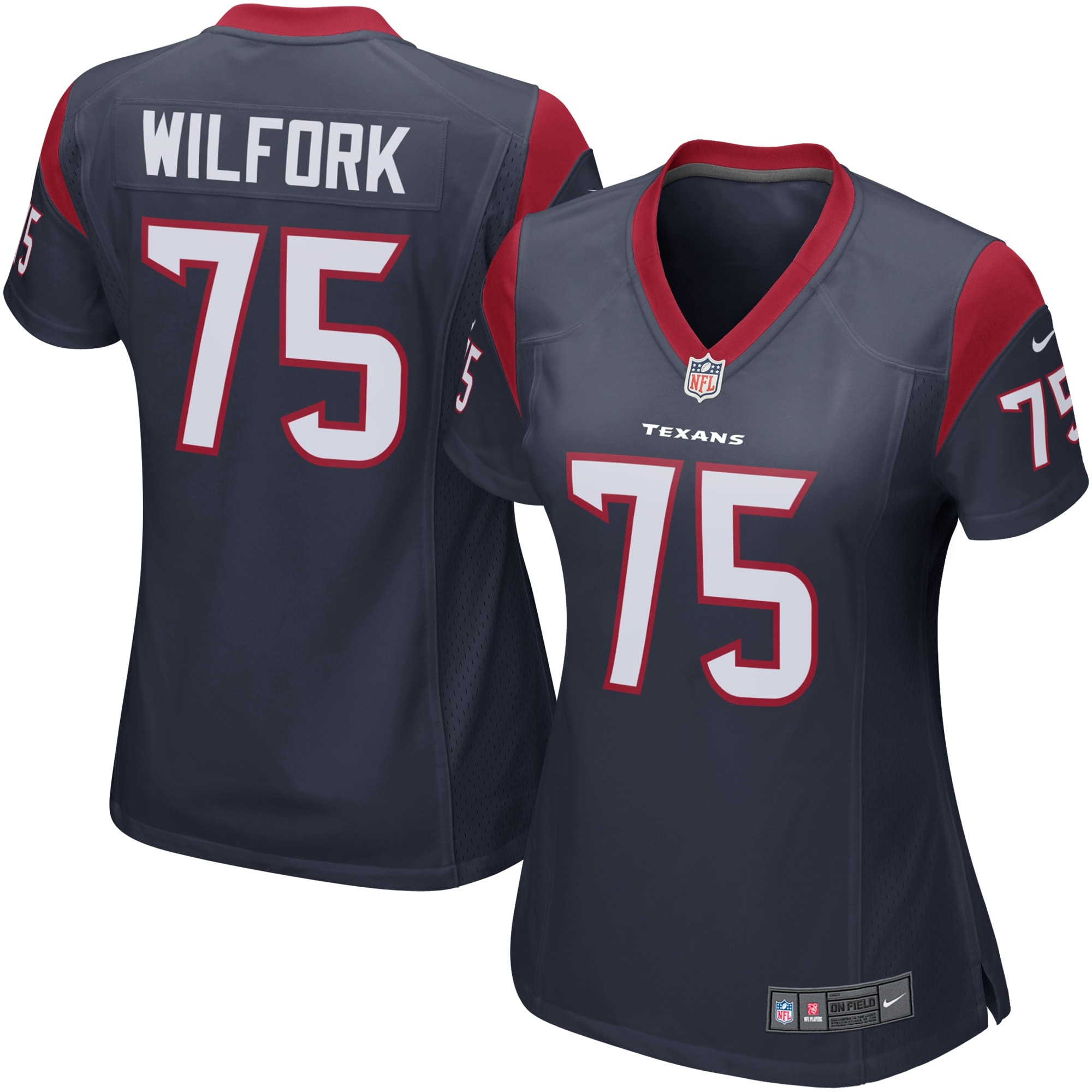 Vince Wilfork Houston Texans Nike Women's Game Jersey - Navy Blue