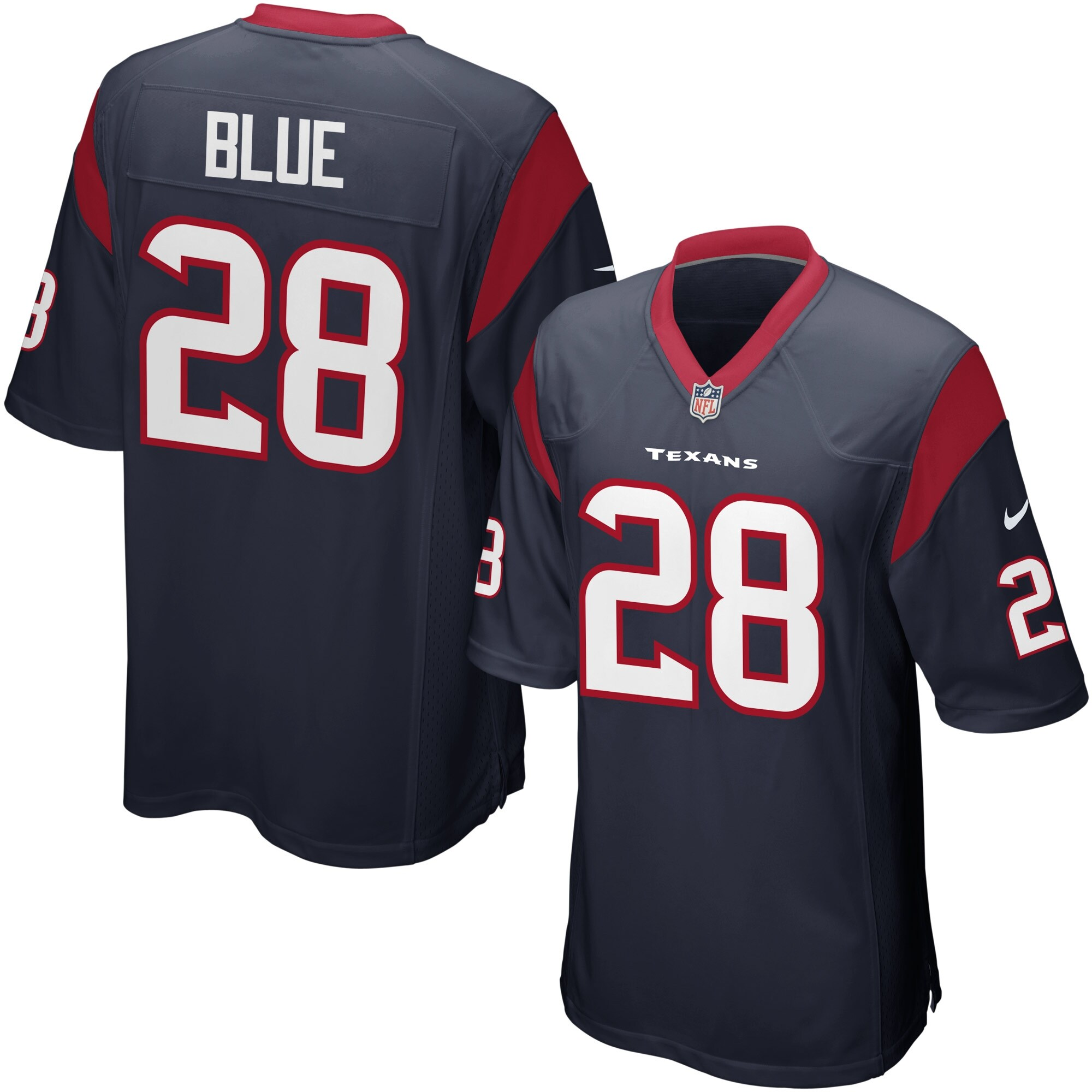 Alfred Blue Houston Texans Youth Nike Team Color Game Jersey - Navy
