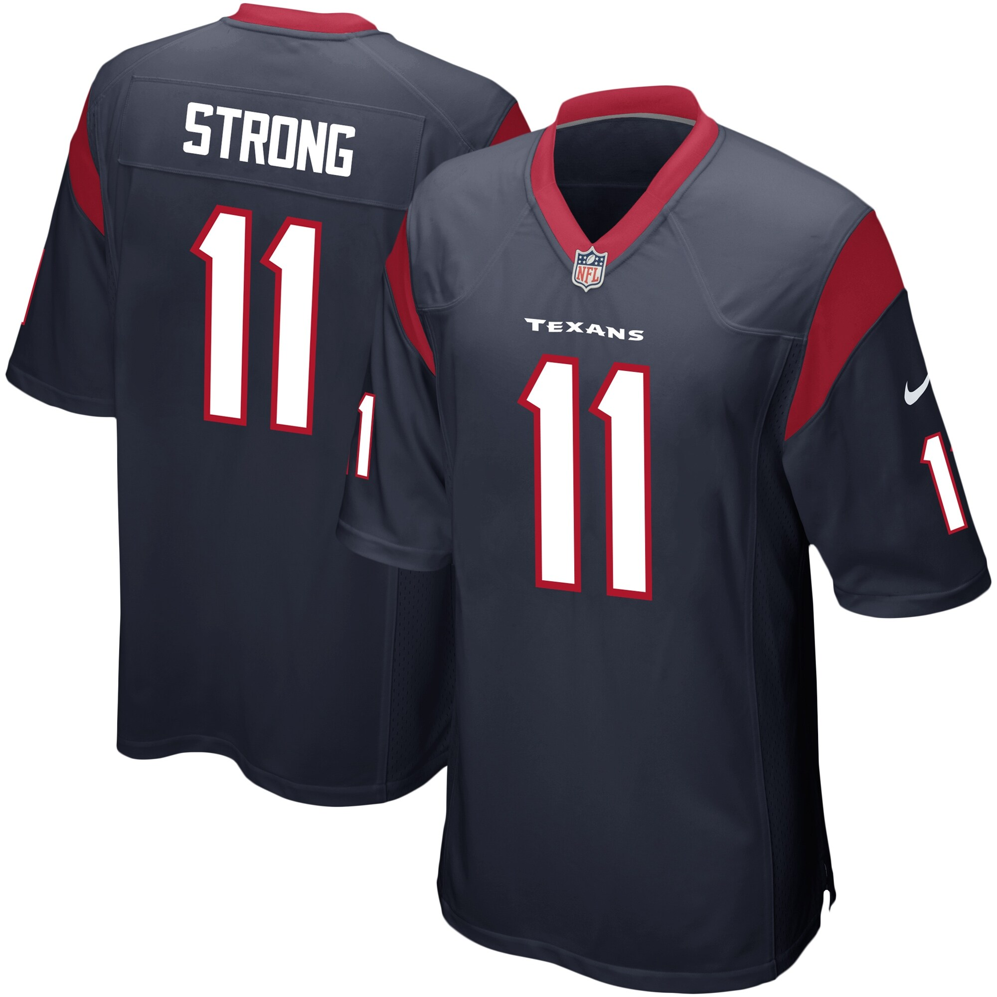 Jaelen Strong Houston Texans Nike Game Jersey - Navy