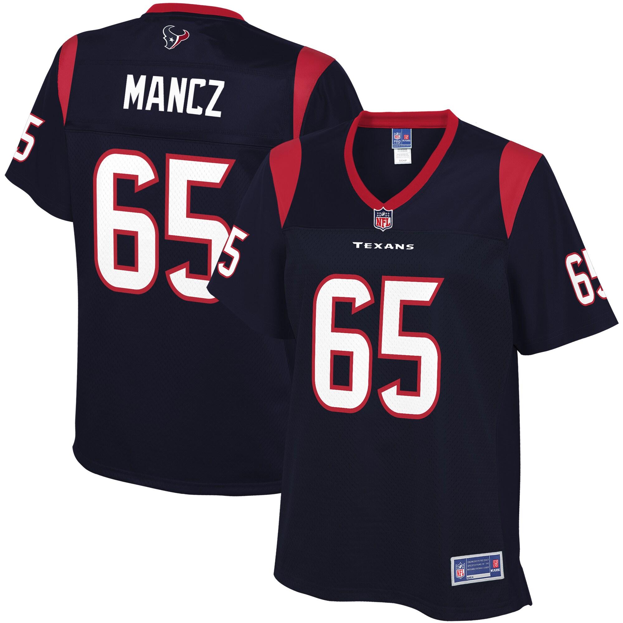 NFL Pro Line Women's Houston Texans Greg Mancz Team Color Jersey