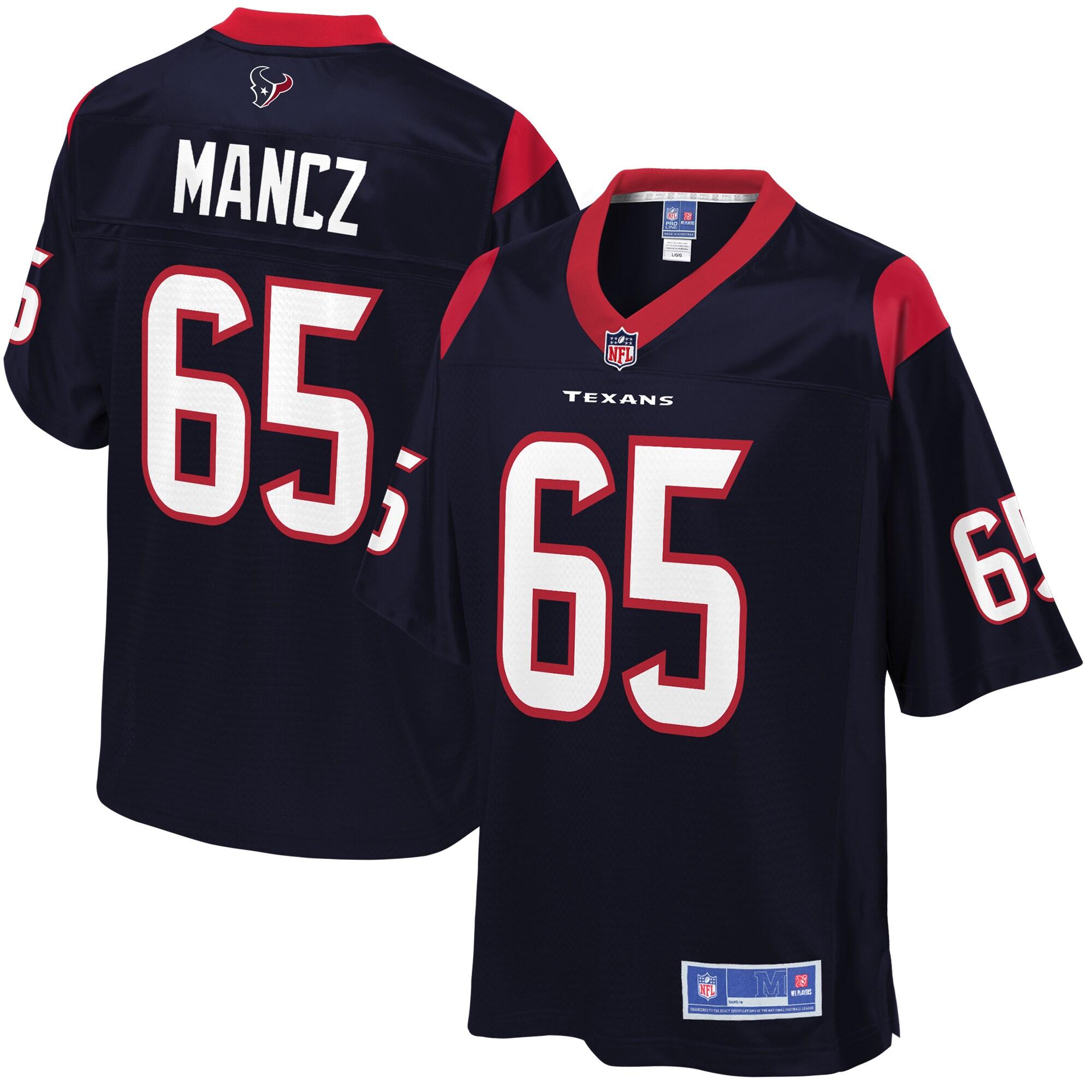 NFL Pro Line Youth Houston Texans Greg Mancz Team Color Jersey