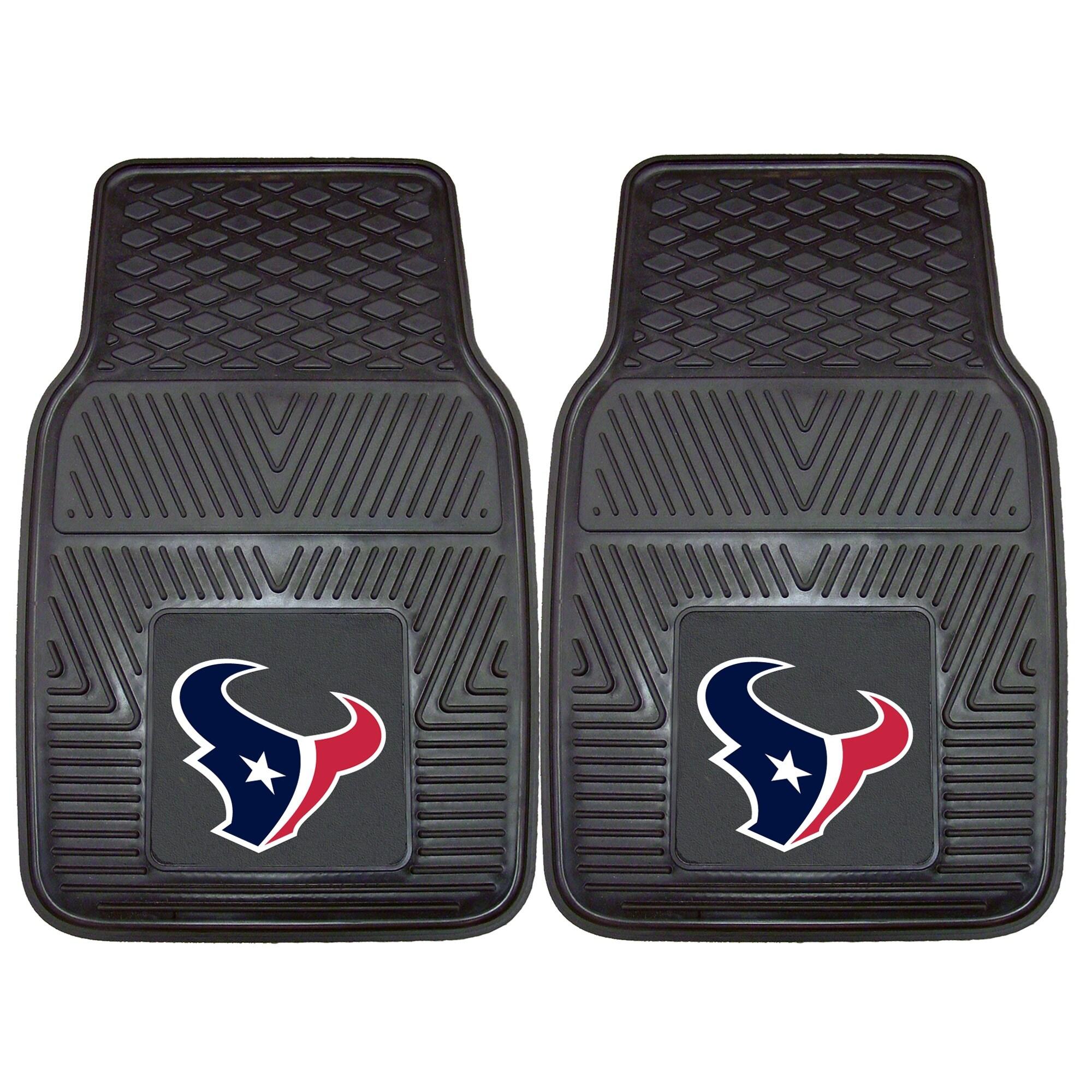 """Houston Texans 27"""" x 18"""" 2-Pack Vinyl Car Mat Set"""