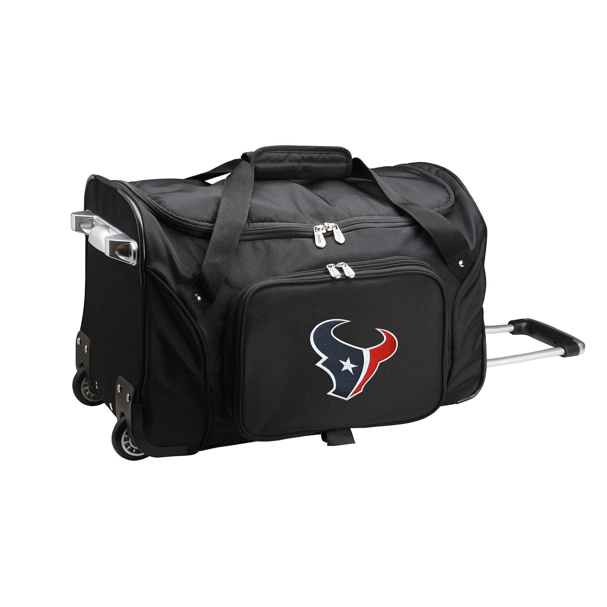 "Houston Texans 22"" 2-Wheeled Duffel Bag - Black"