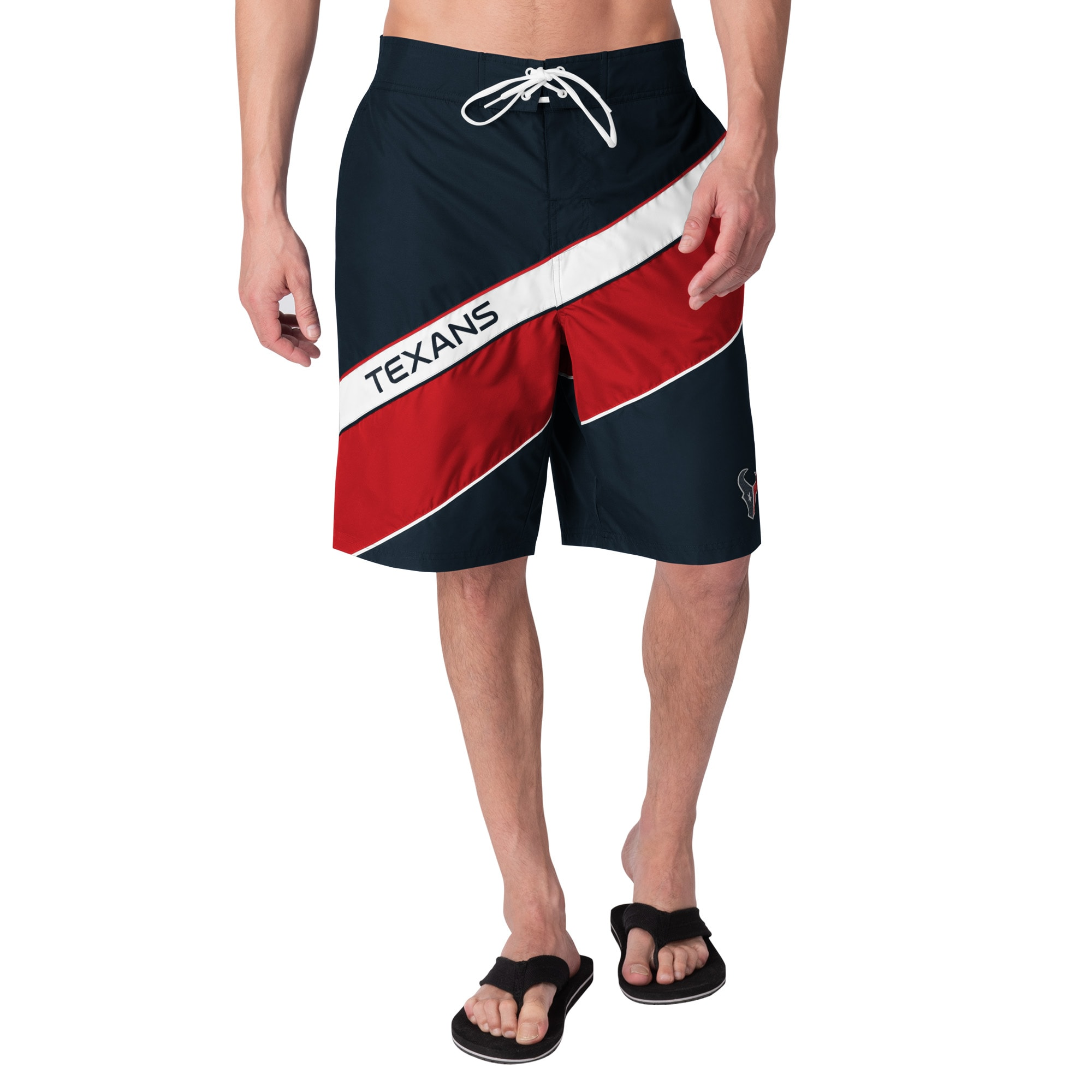 Houston Texans G-III Sports by Carl Banks Rookie Swim Trunks - Navy/Red