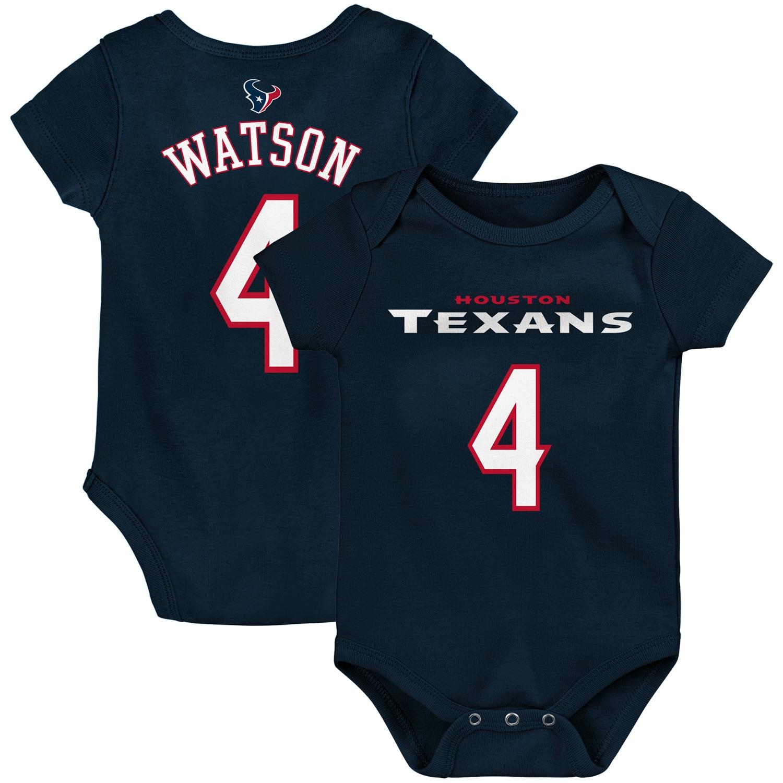 Deshaun Watson Houston Texans Infant Mainliner Name & Number Bodysuit - Navy