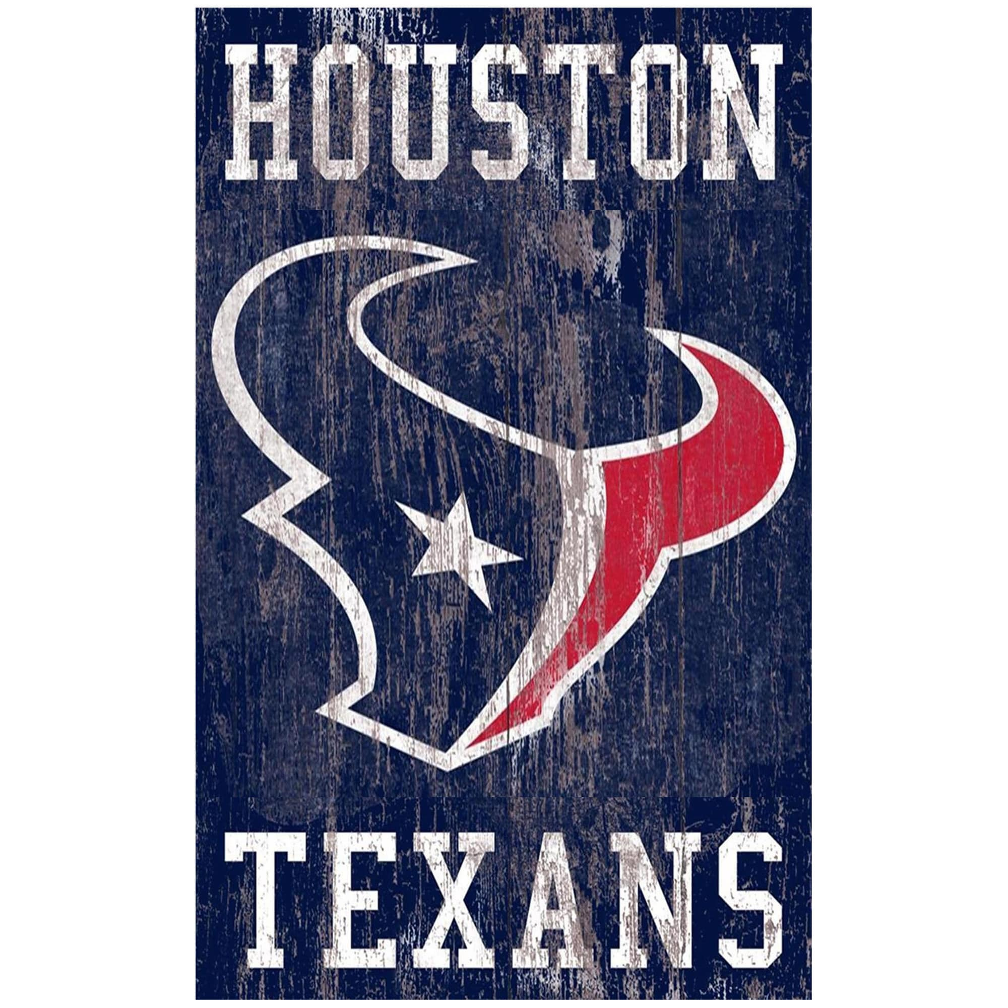 Houston Texans 11'' x 19'' Heritage Distressed Logo Sign