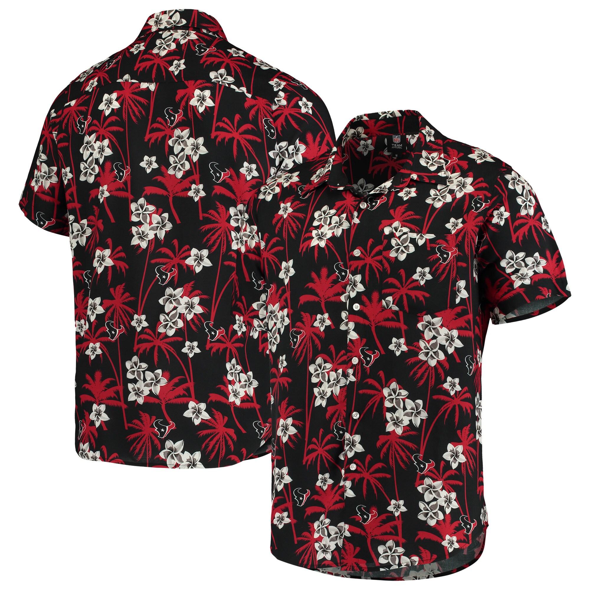 Houston Texans Floral Woven Button-Up Shirt - Navy