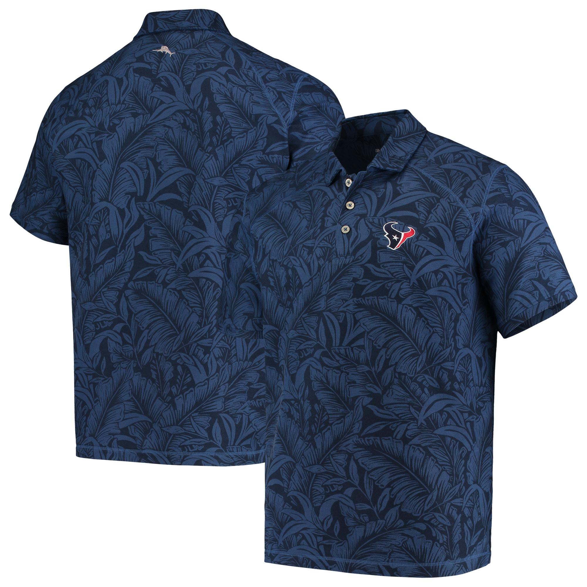 Houston Texans Tommy Bahama Sport Leafbacker Polo - Navy