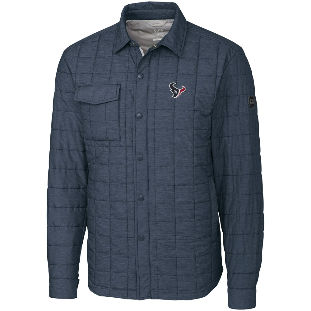 Houston Texans Cutter & Buck Big & Tall Rainier Shirt Jacket - Charcoal