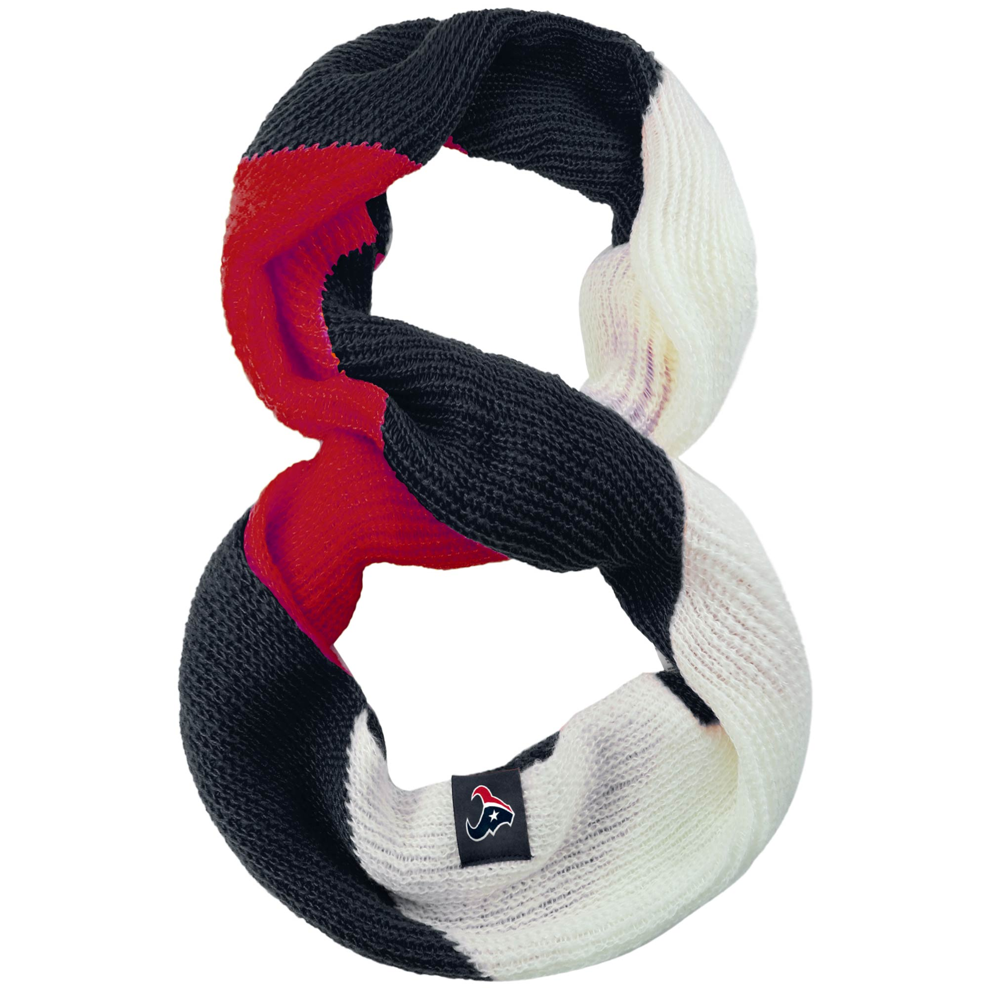 Houston Texans Women's Color Block Knit Infinity Scarf
