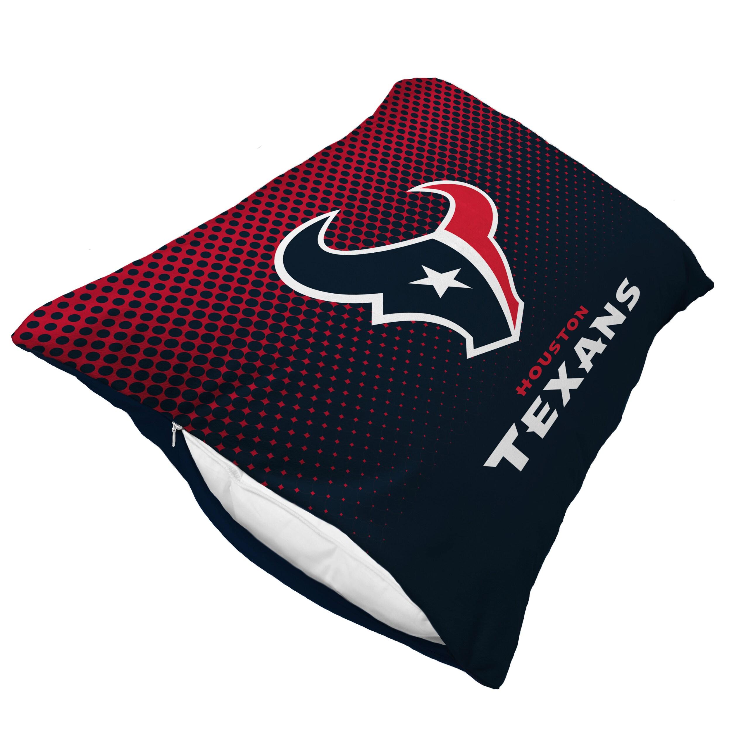 Houston Texans Dot Fade Plush Standard Pillow Protector - Blue
