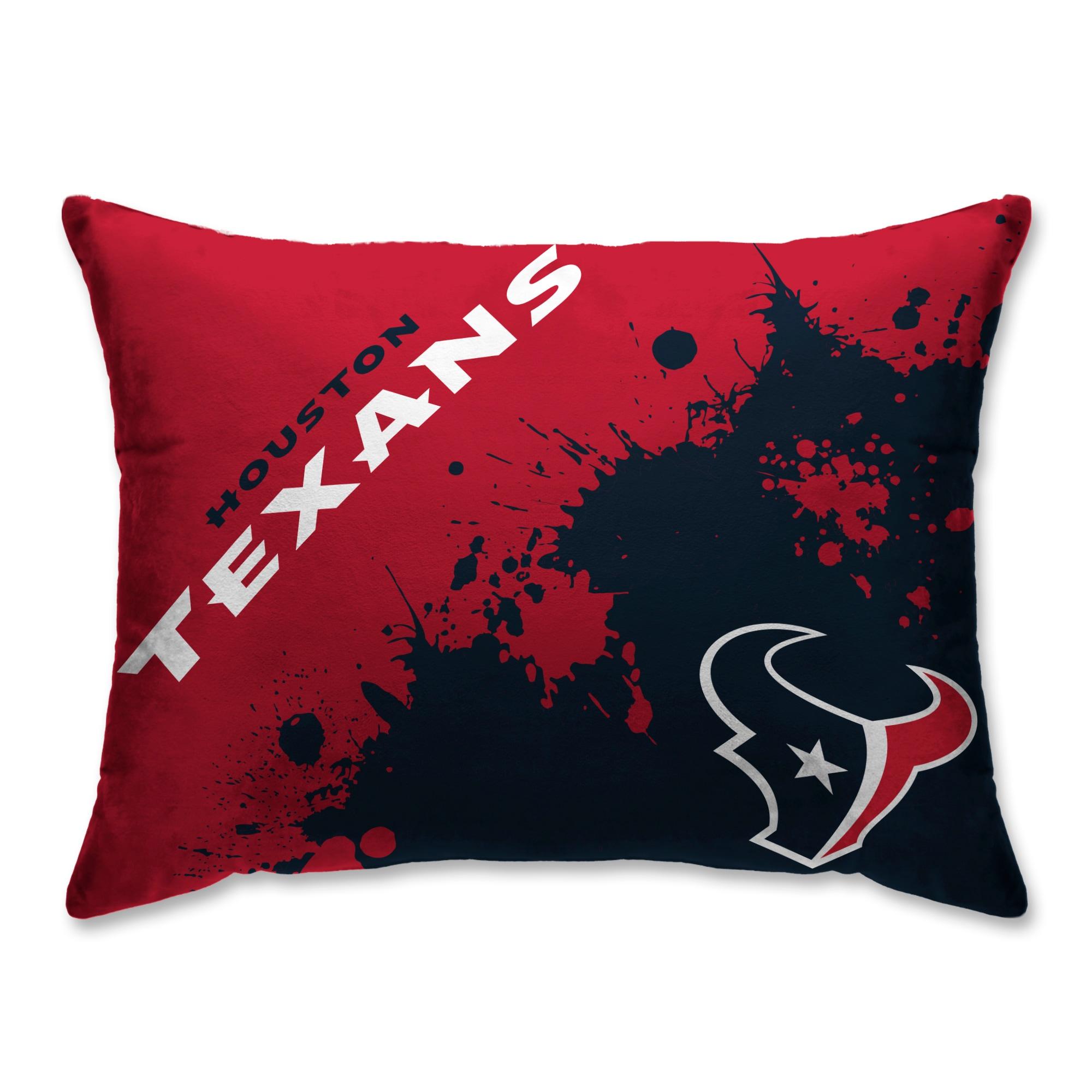 Houston Texans Splatter Plush Bed Pillow - Blue