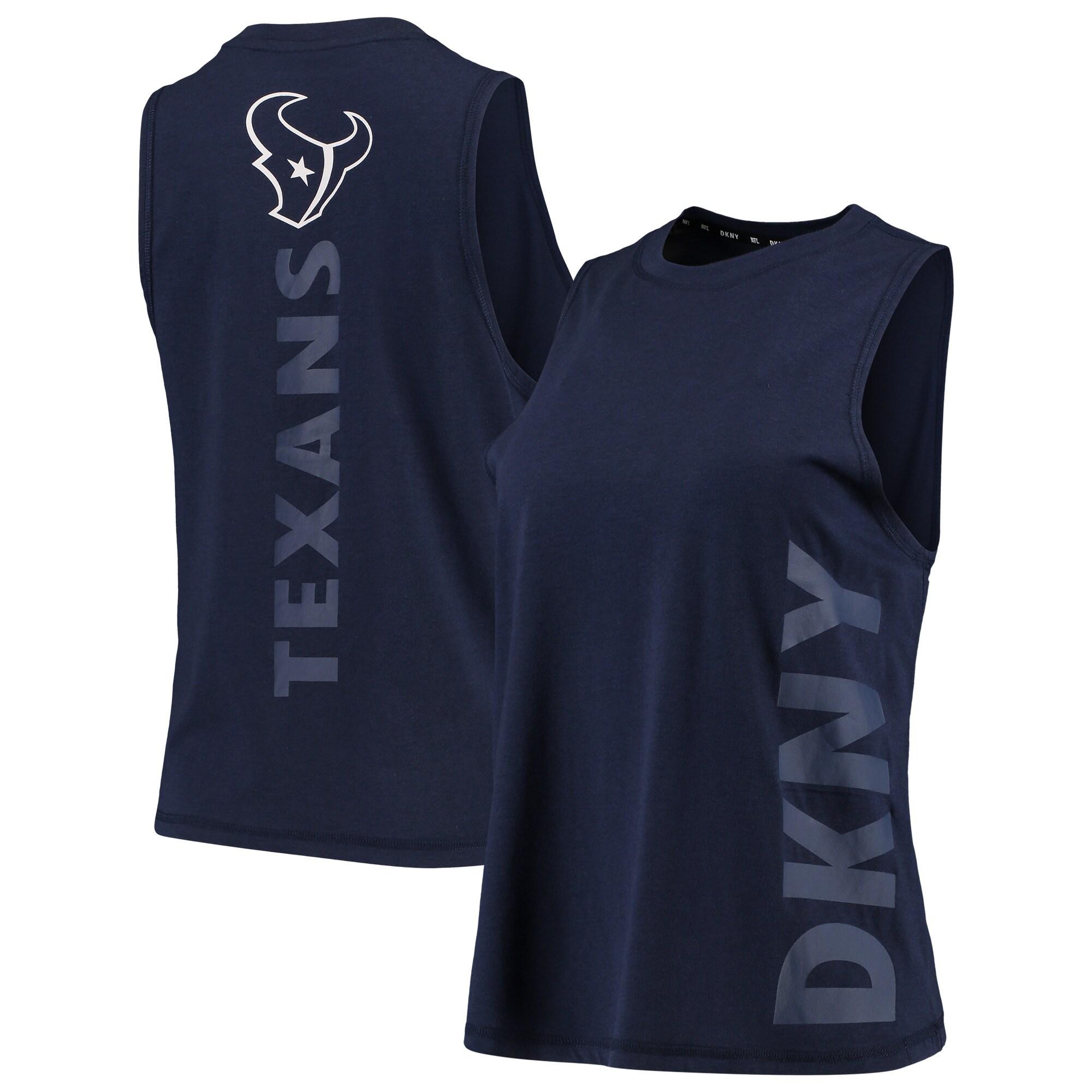 Houston Texans DKNY Sport Women's Olivia Tri-Blend Tank Top - Navy
