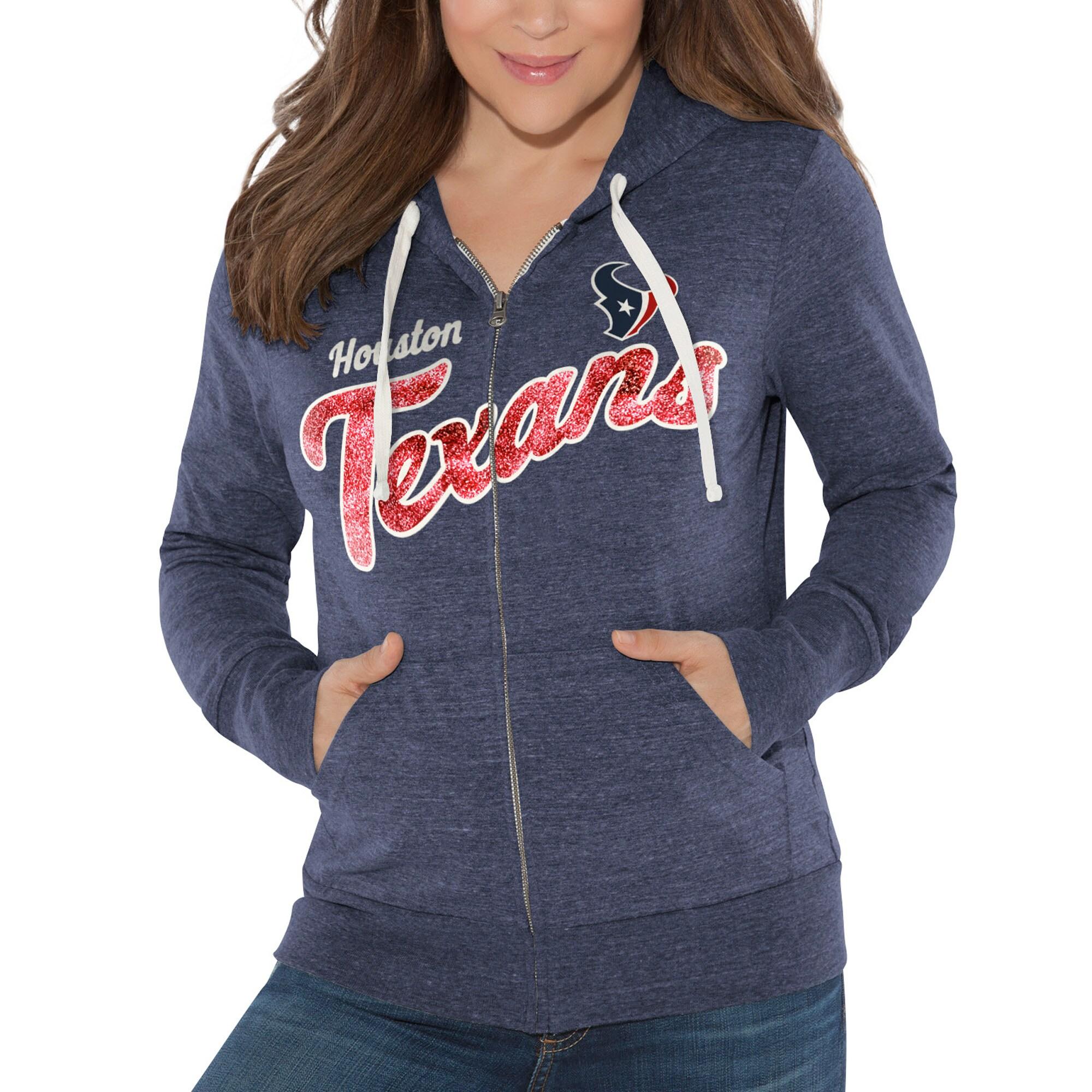 Houston Texans Touch by Alyssa Milano Women's All American Full-Zip Hoodie - Navy