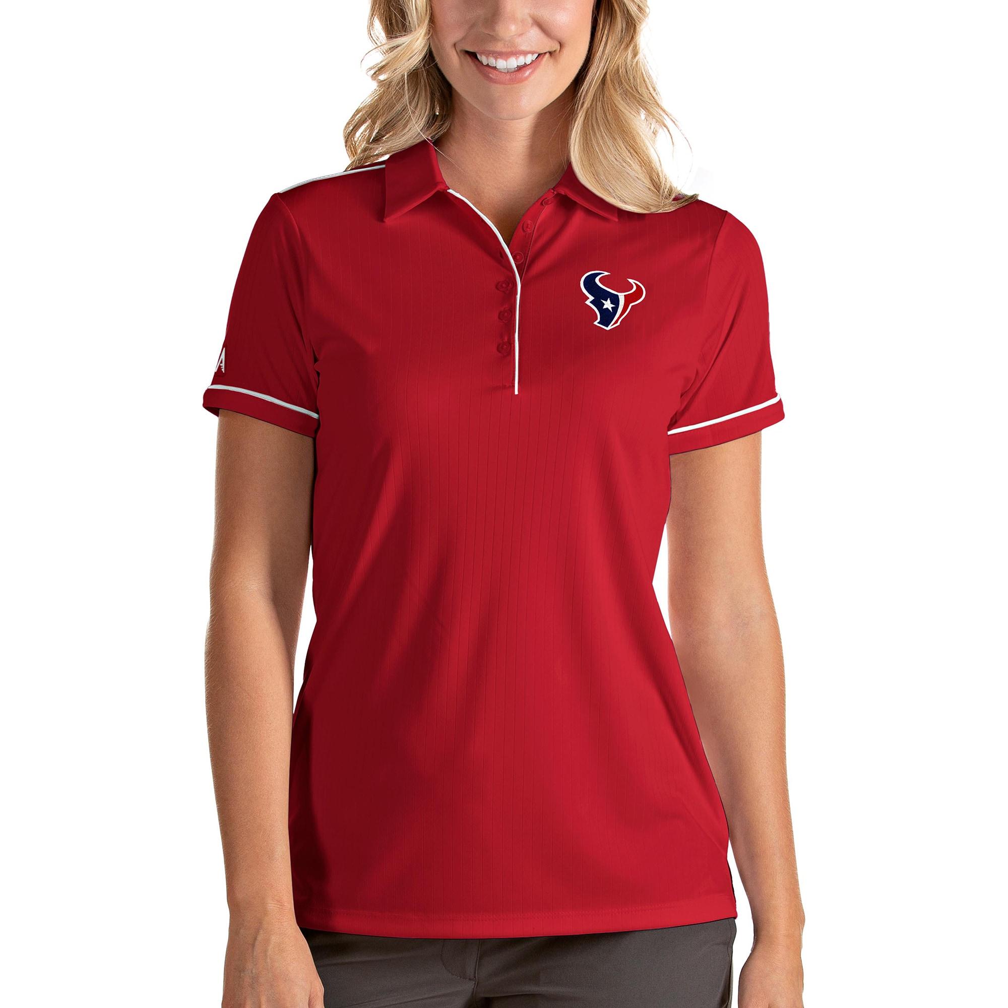 Houston Texans Antigua Women's Salute Polo - Red