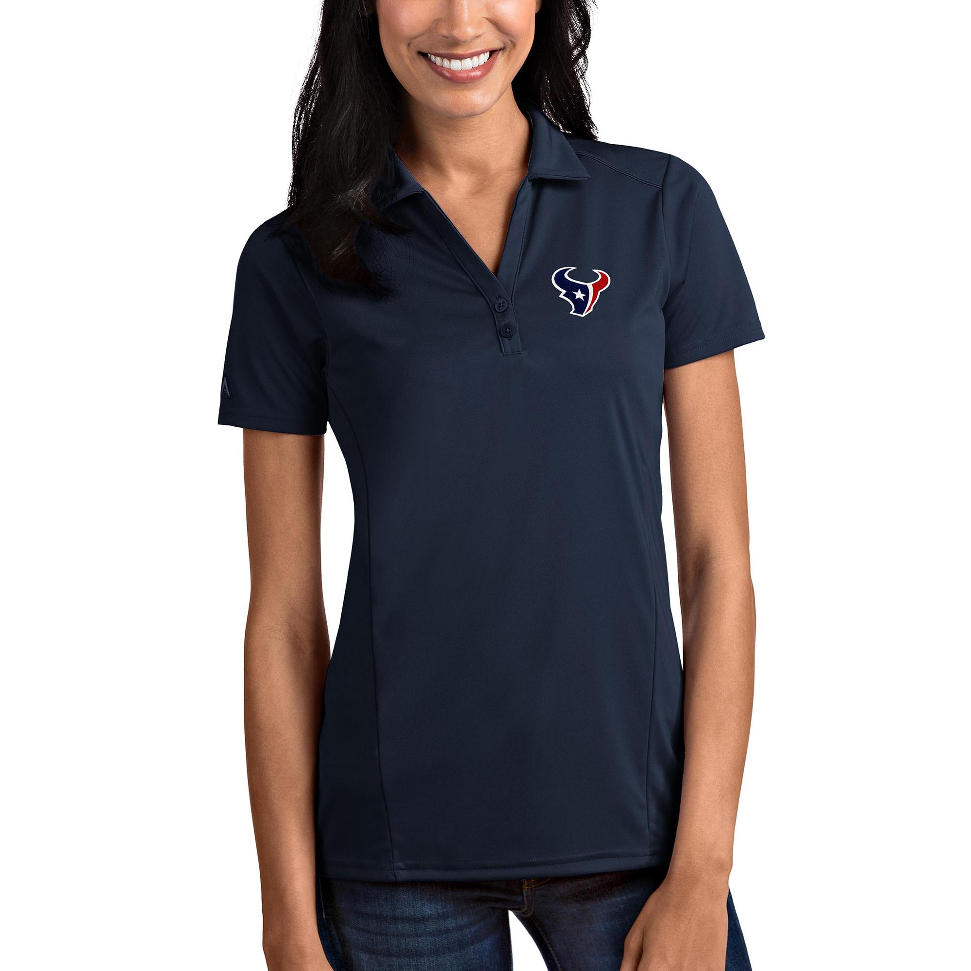 Houston Texans Antigua Women's Tribute Polo - Navy