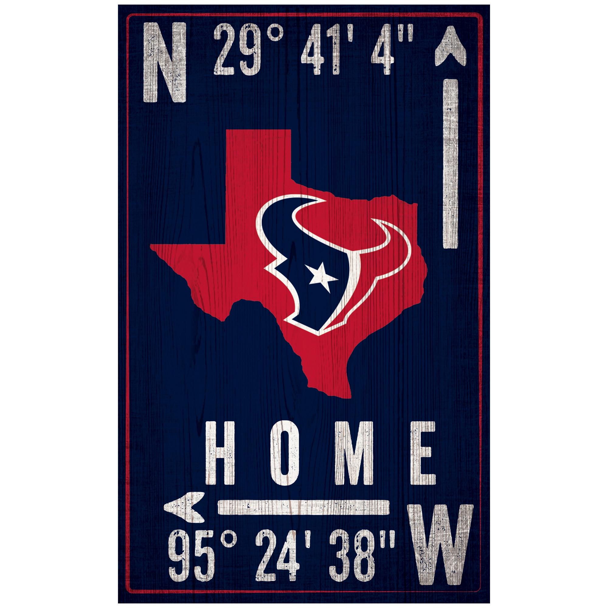 "Houston Texans 11"" x 19"" Coordinate Sign"
