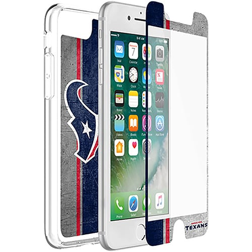 Houston Texans OtterBox iPhone 8/7/6/6s Symmetry Case with Alpha Glass Screen Protector