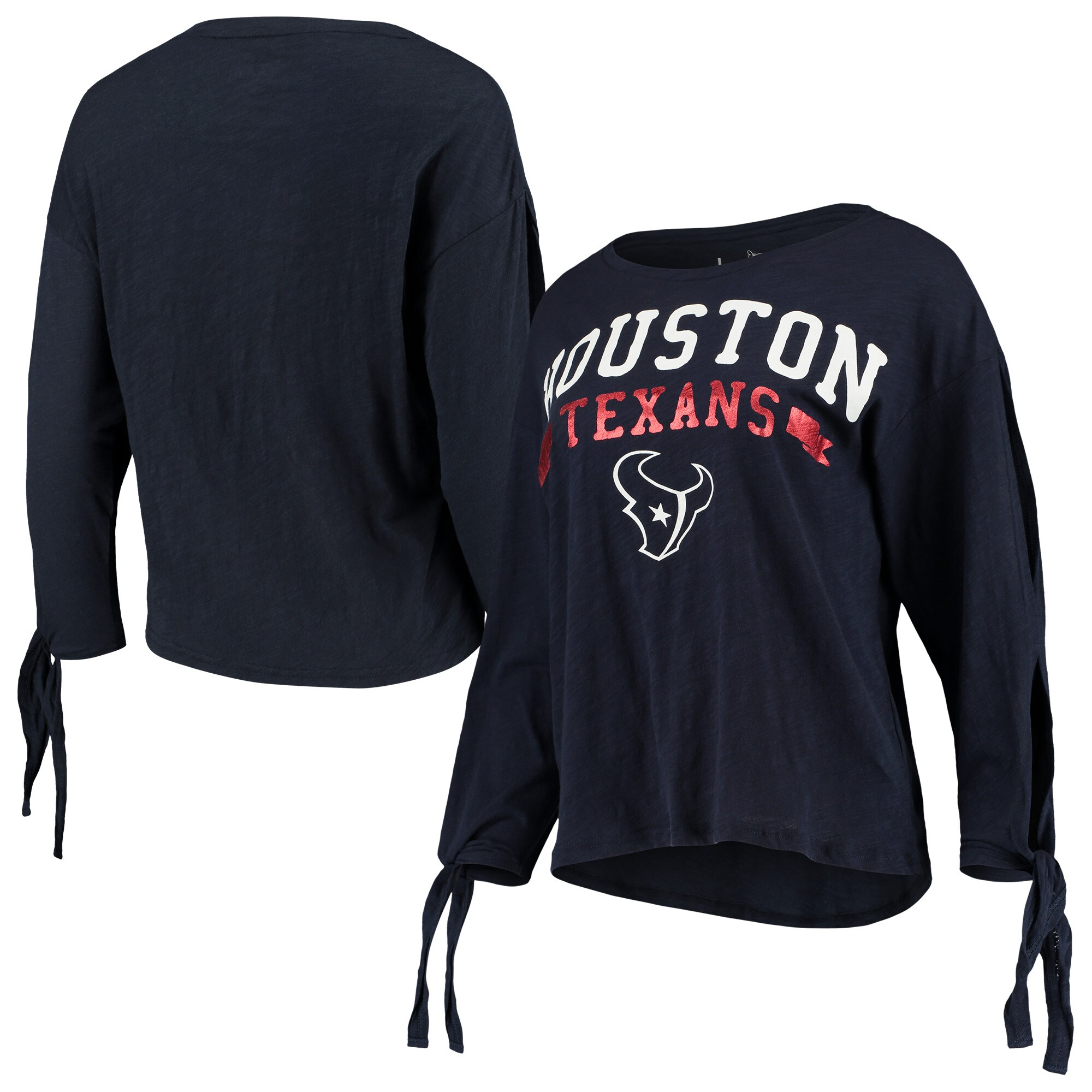 Houston Texans Touch by Alyssa Milano Women's On The Fly Long Sleeve T-Shirt - Navy
