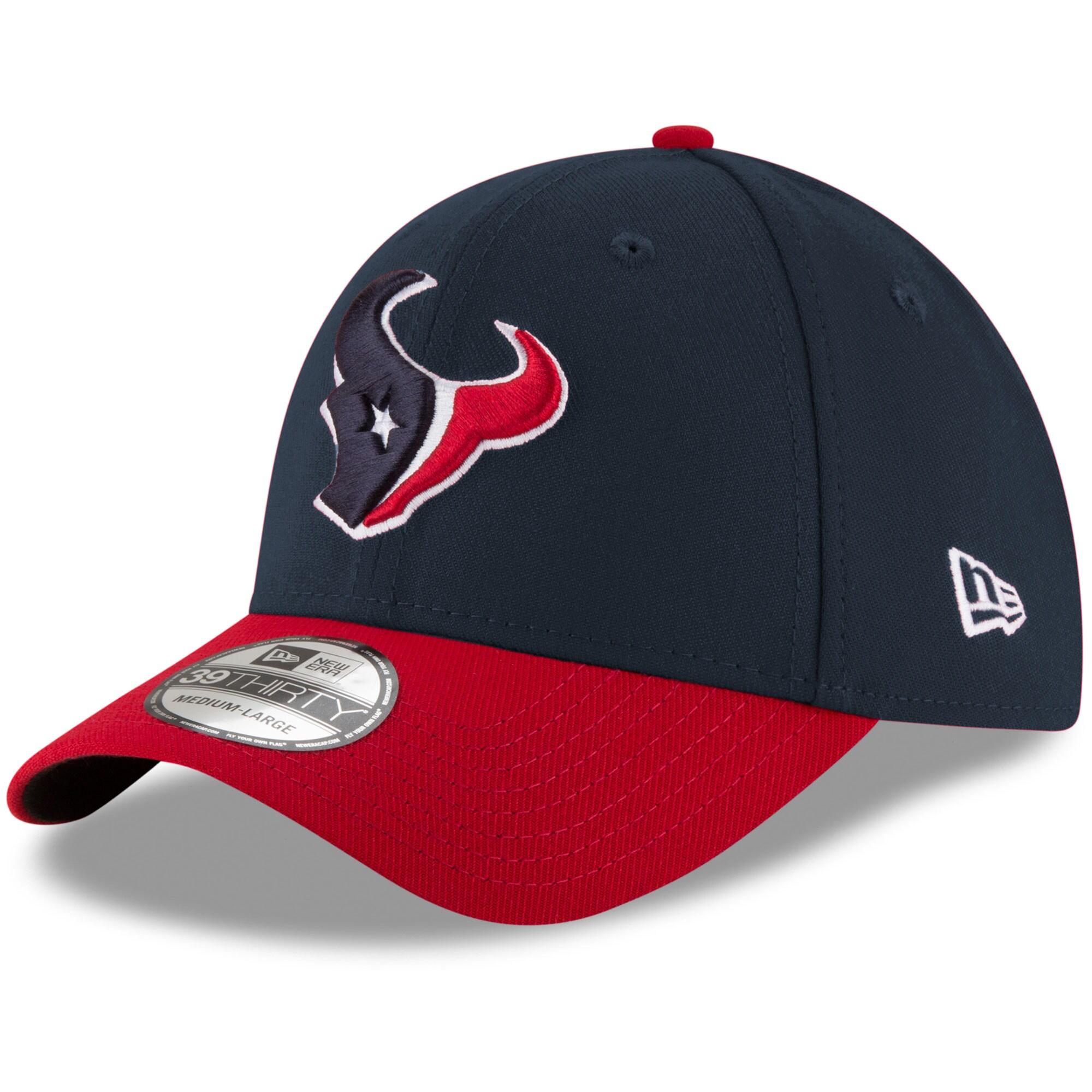 Houston Texans New Era Team Classic Two-Tone 39THIRTY Flex Hat - Navy/Red