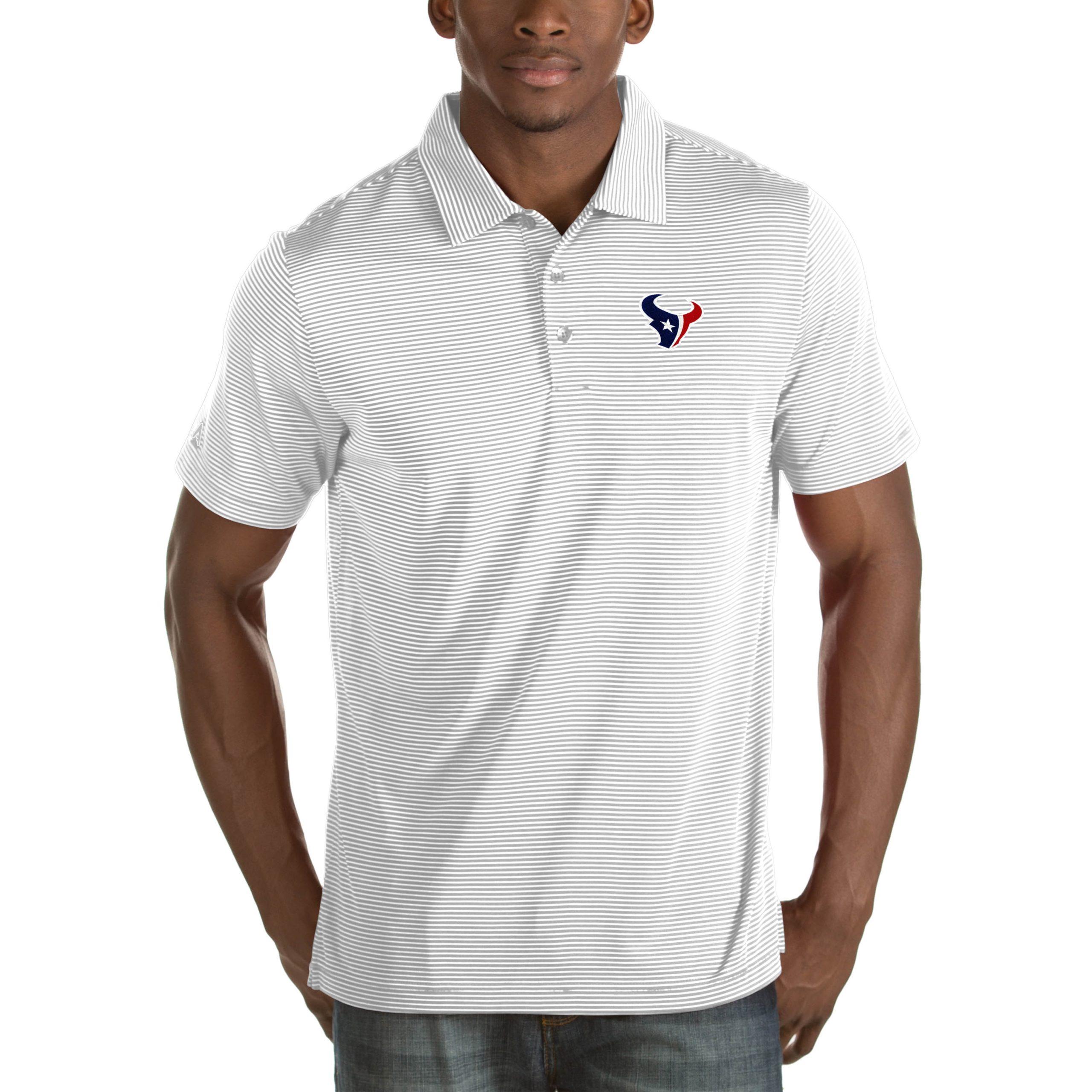 Houston Texans Antigua Quest Big & Tall Polo - White