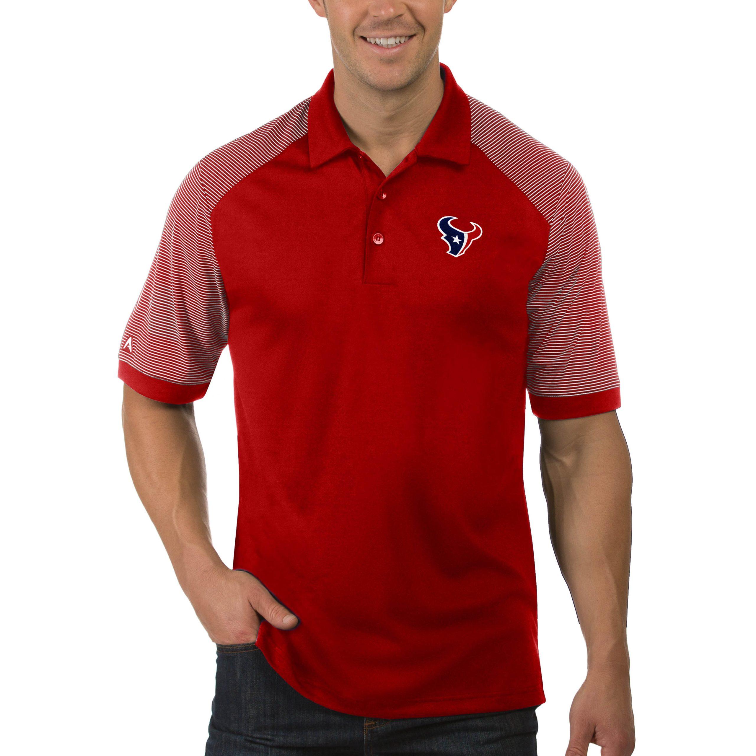 Houston Texans Antigua Engage Big & Tall Polo - Red