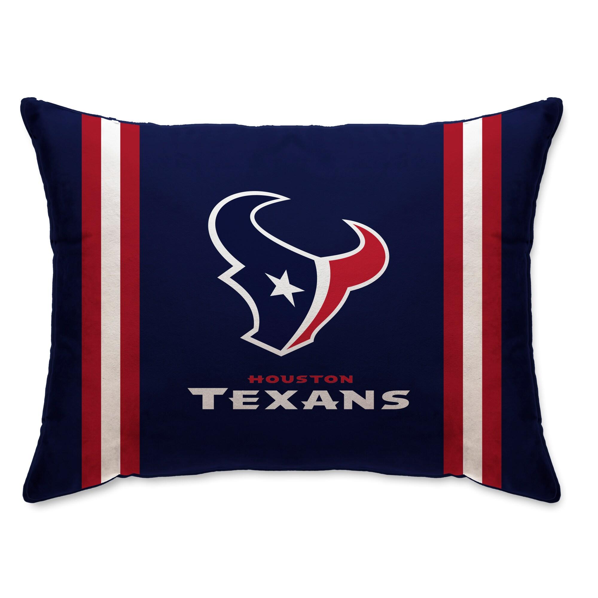 """Houston Texans 20"""" x 26"""" Plush Bed Pillow - Navy"""