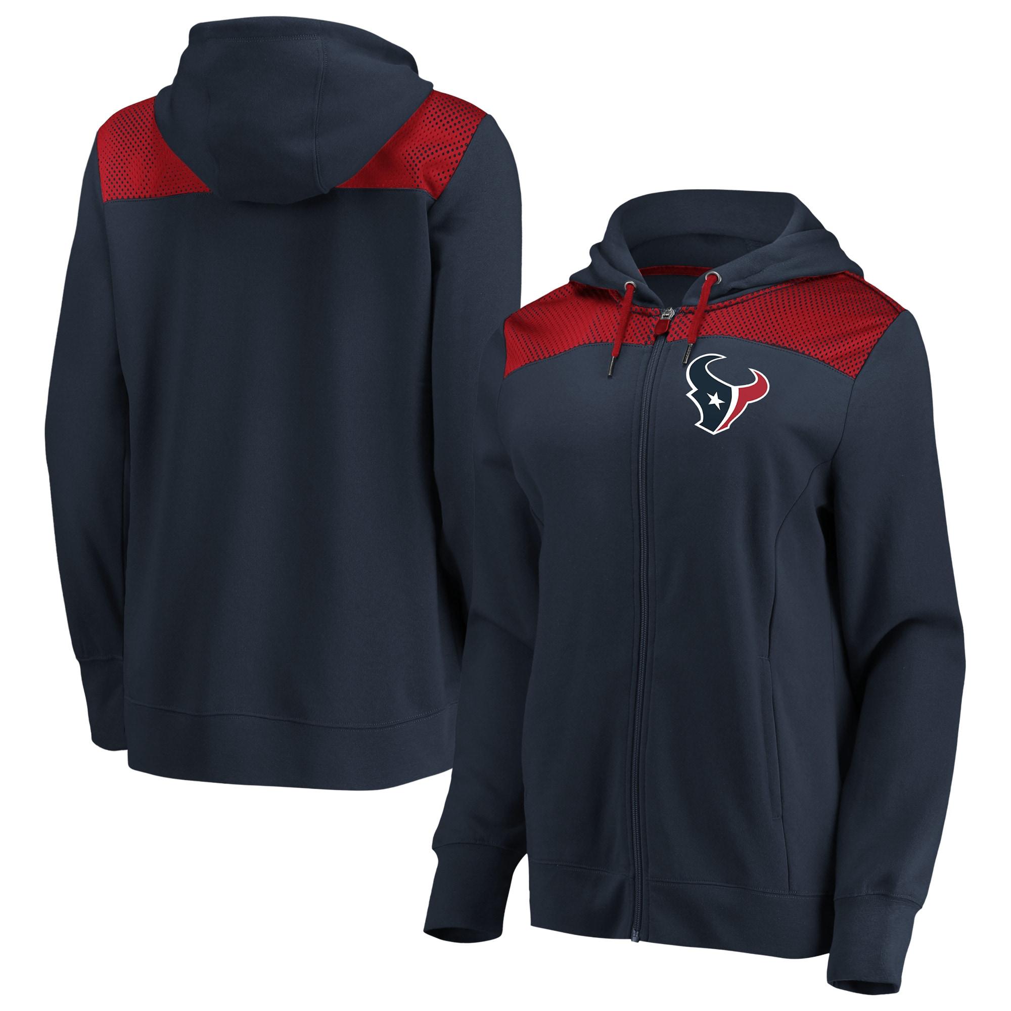 Houston Texans Fanatics Branded Women's Team Best Full-Zip Hoodie - Navy