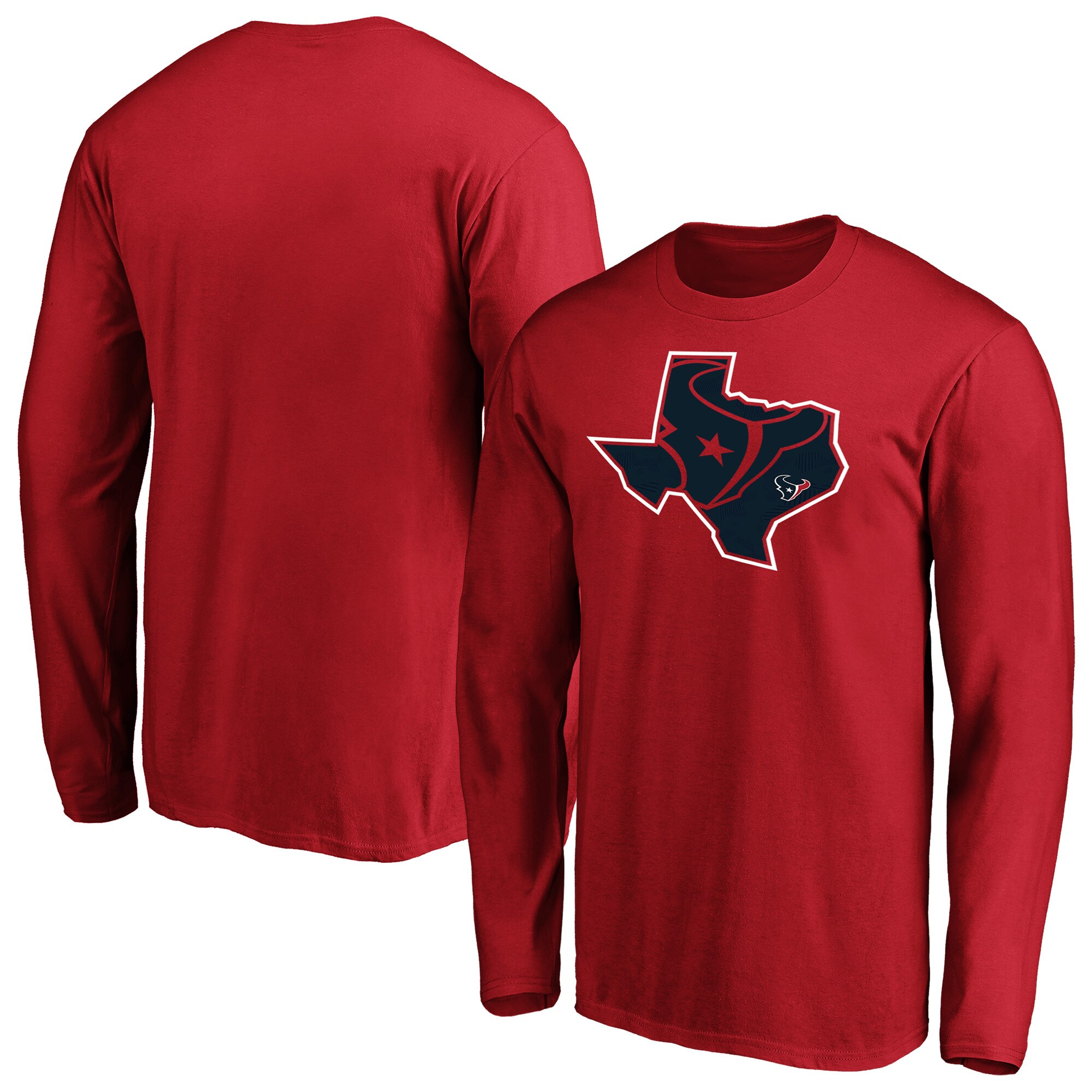 Houston Texans NFL Pro Line by Fanatics Branded Iconic State Pride Long Sleeve T-Shirt - Red