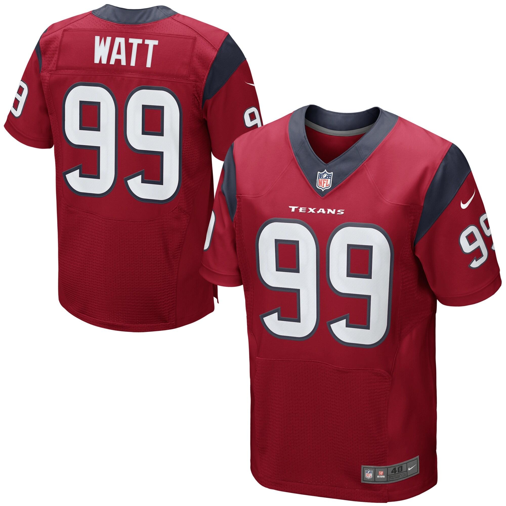 JJ Watt Houston Texans Nike Elite Jersey - Red