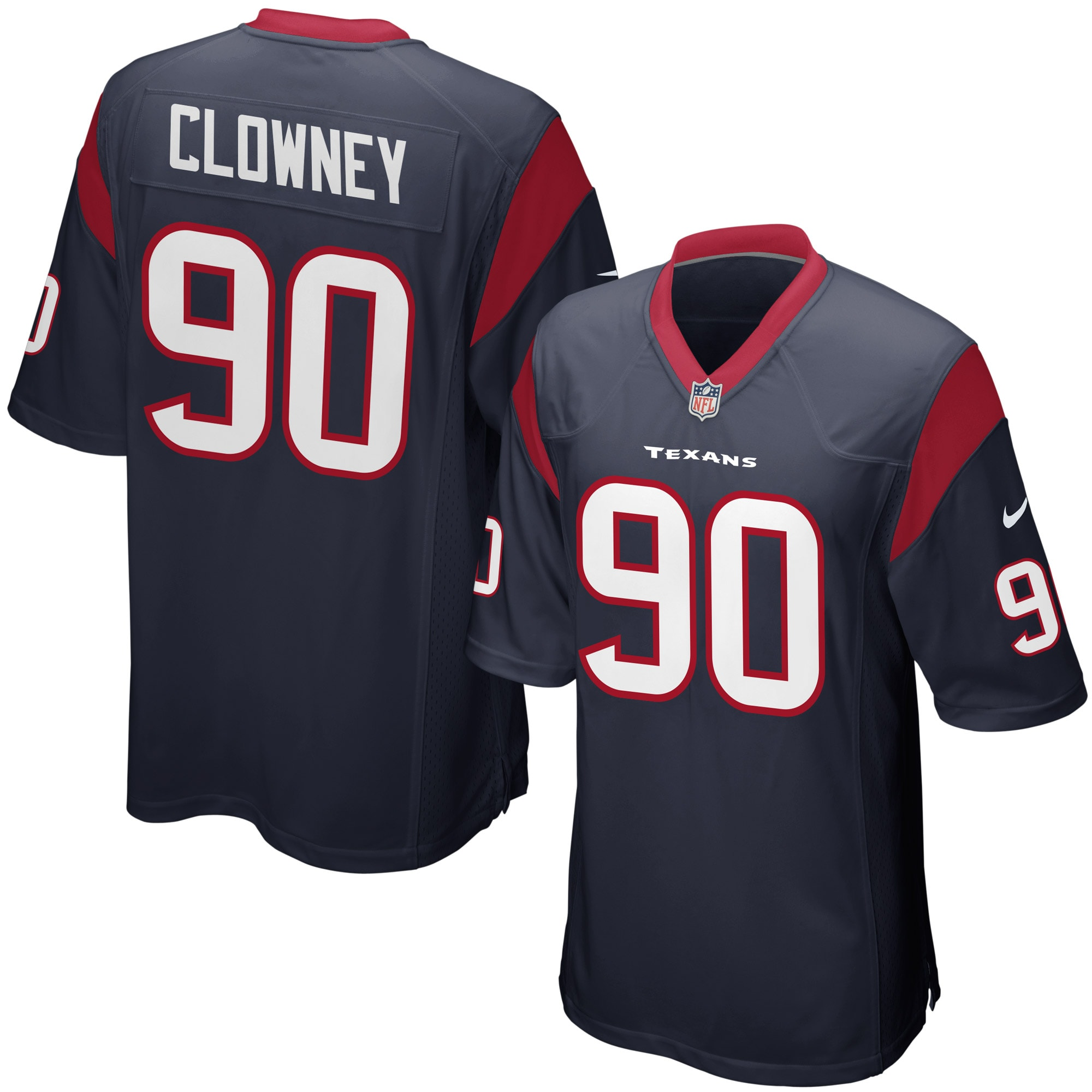 Jadeveon Clowney Houston Texans Nike Youth Team Color Game Jersey - Navy Blue